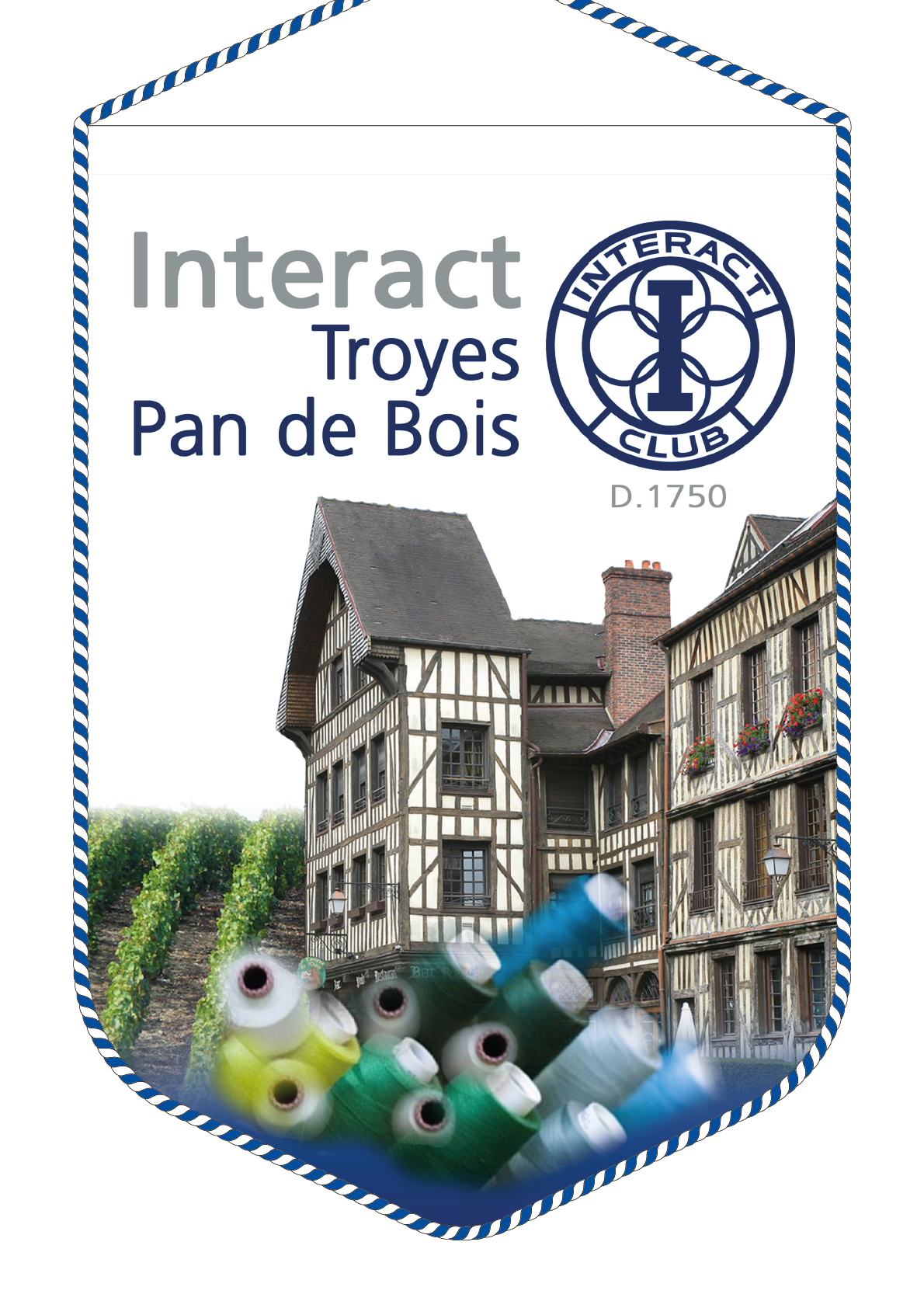 FANION INTERACT CLUB TROYES PAN DE BOIS