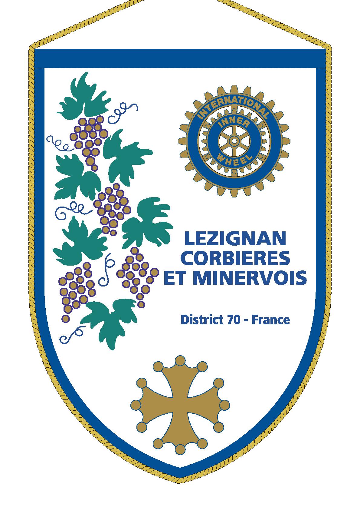 FANION INNER WHEEL CLUB LEZIGNAN CORBIERES EN MINERVOIS