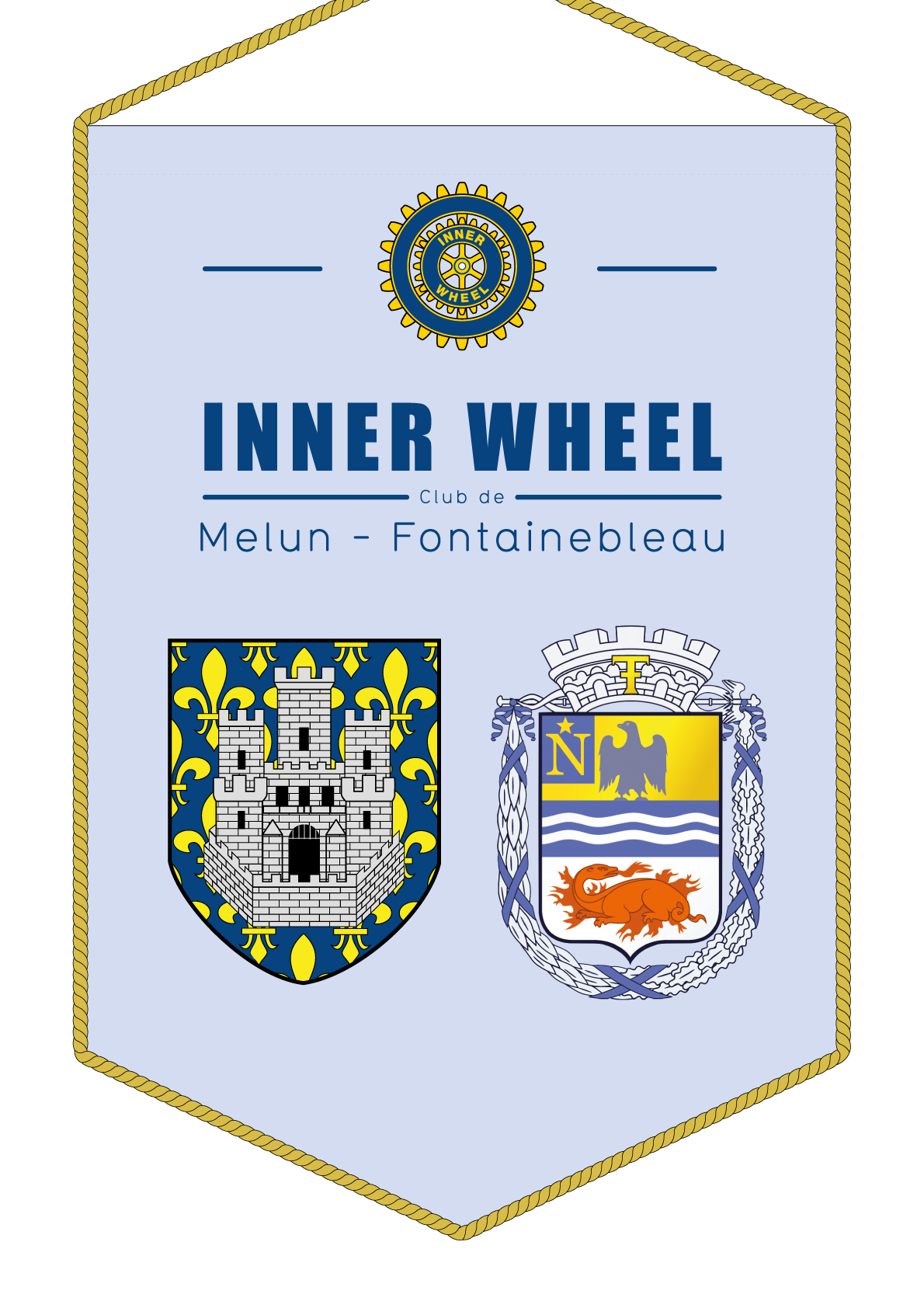 FANION INNER WHEEL CLUB MELUN FONTAINEBLEAU