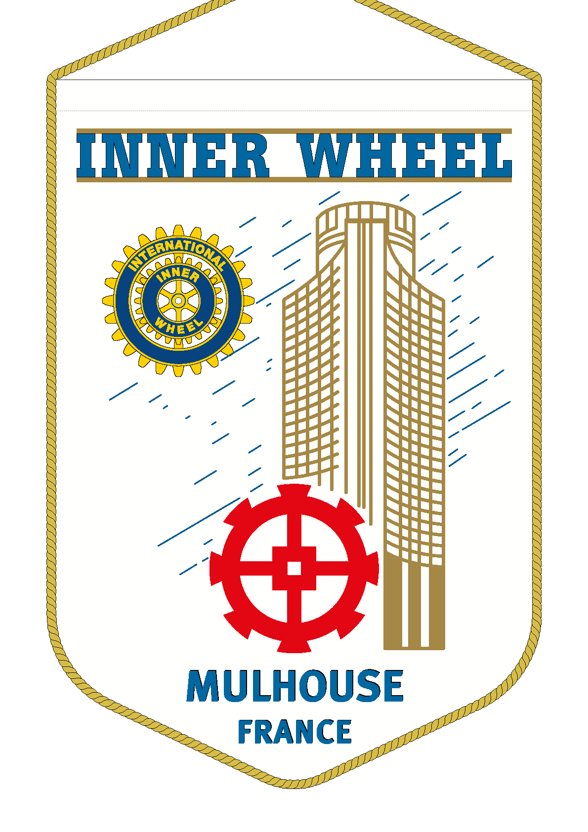 FANION INNER WHEEL CLUB MULHOUSE