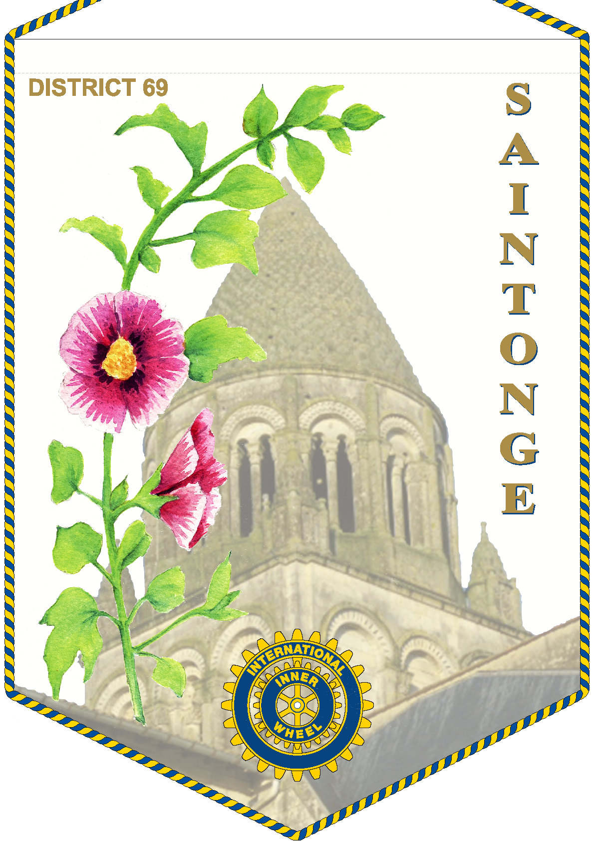FANION INNER WHEEL CLUB SAINTONGE