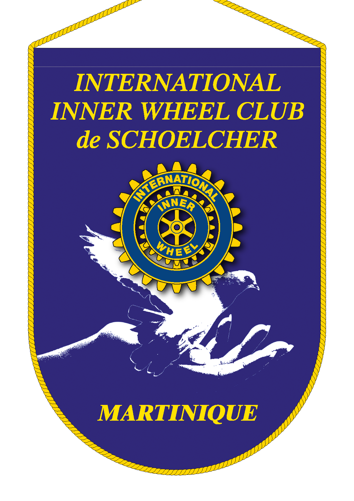 FANION INNER WHEEL CLUB SCHOELCHER