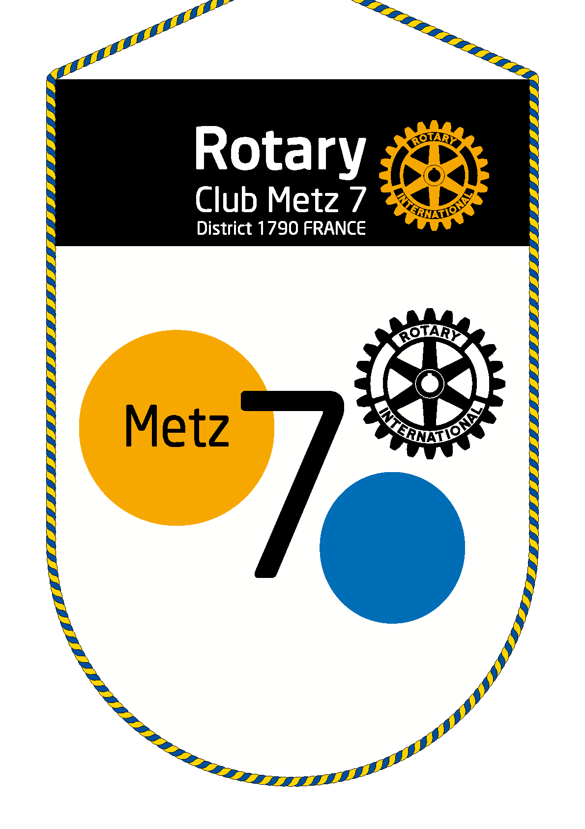 FANION ROTARY CLUB METZ 7