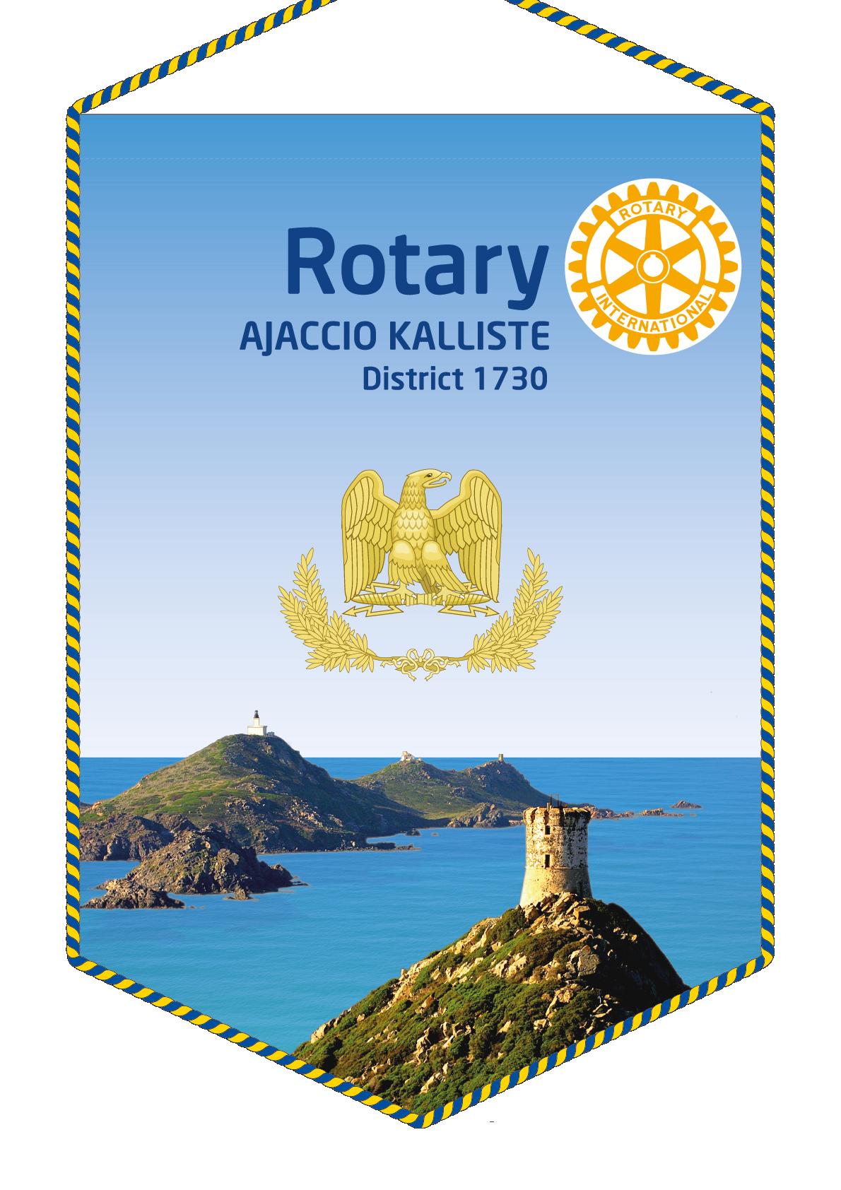 FANION ROTARY CLUB AJACCIO KALLISTE