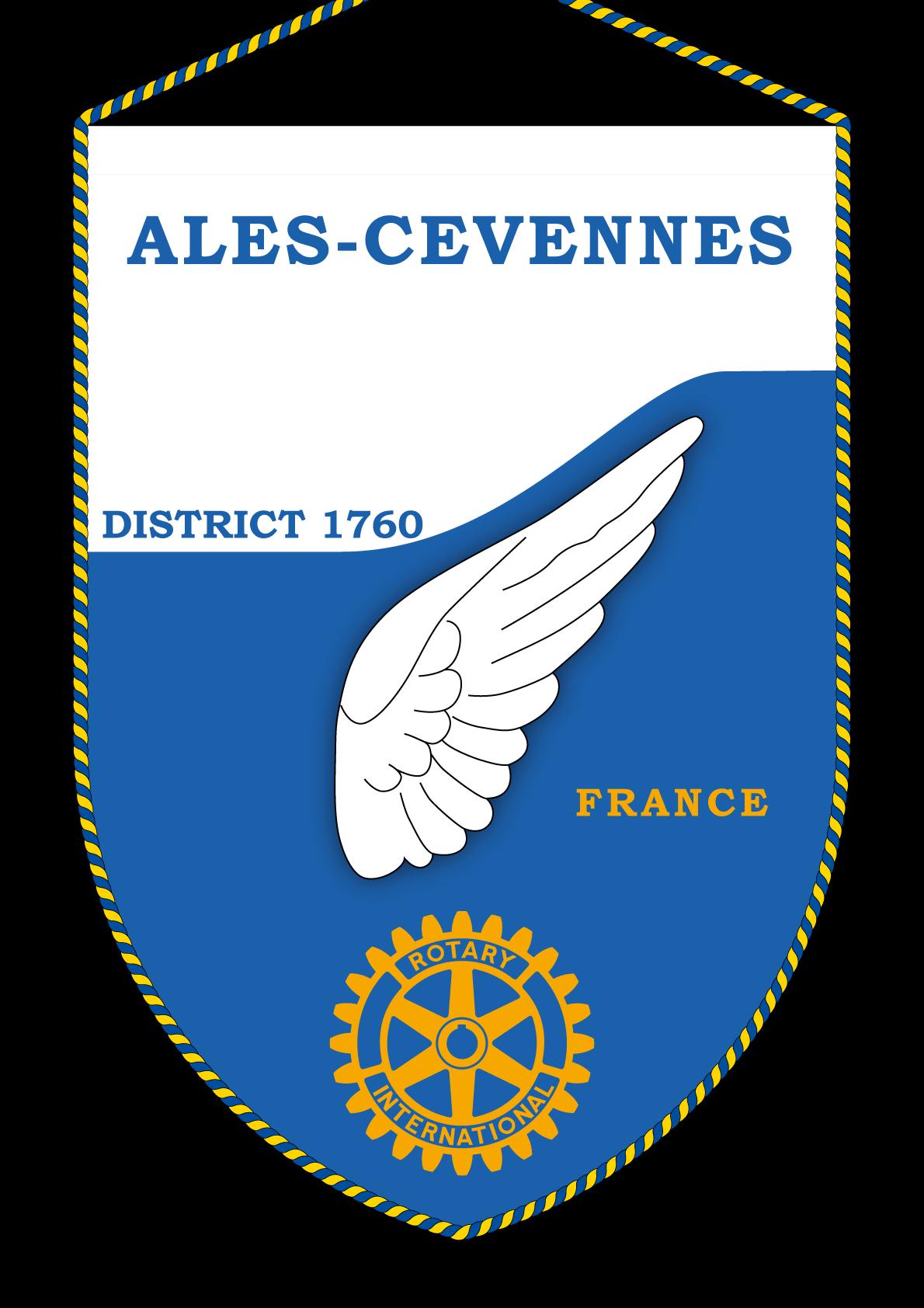 FANION ROTARY CLUB ALES CEVENNES
