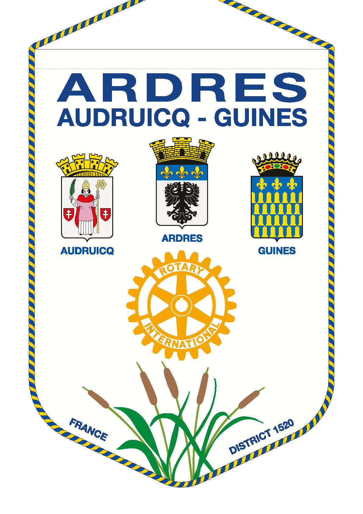 FANION ROTARY CLUB ARDRES AUDRUICQ GUINES