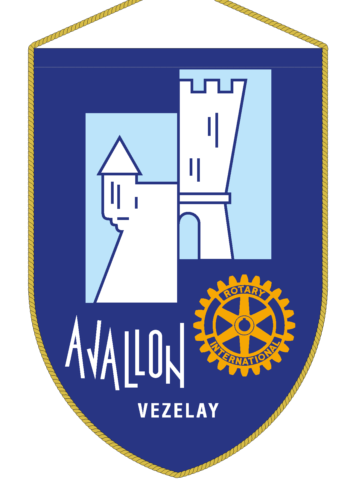 FANION ROTARY CLUB AVALLON VEZELAY