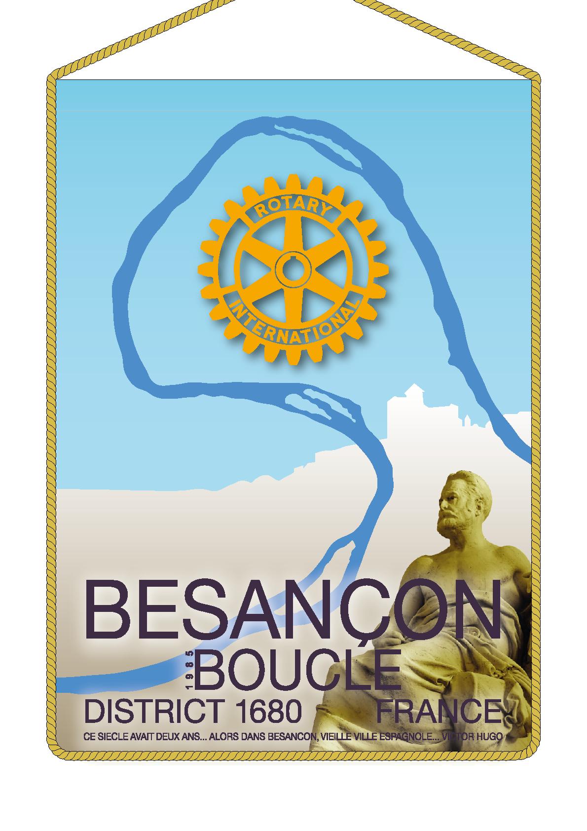 FANION ROTARY CLUB BESANCON BOUCLE