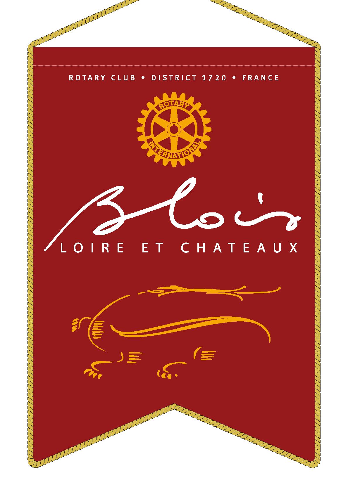 FANION ROTARY CLUB BLOIS LOIRE ET CHATEAUX