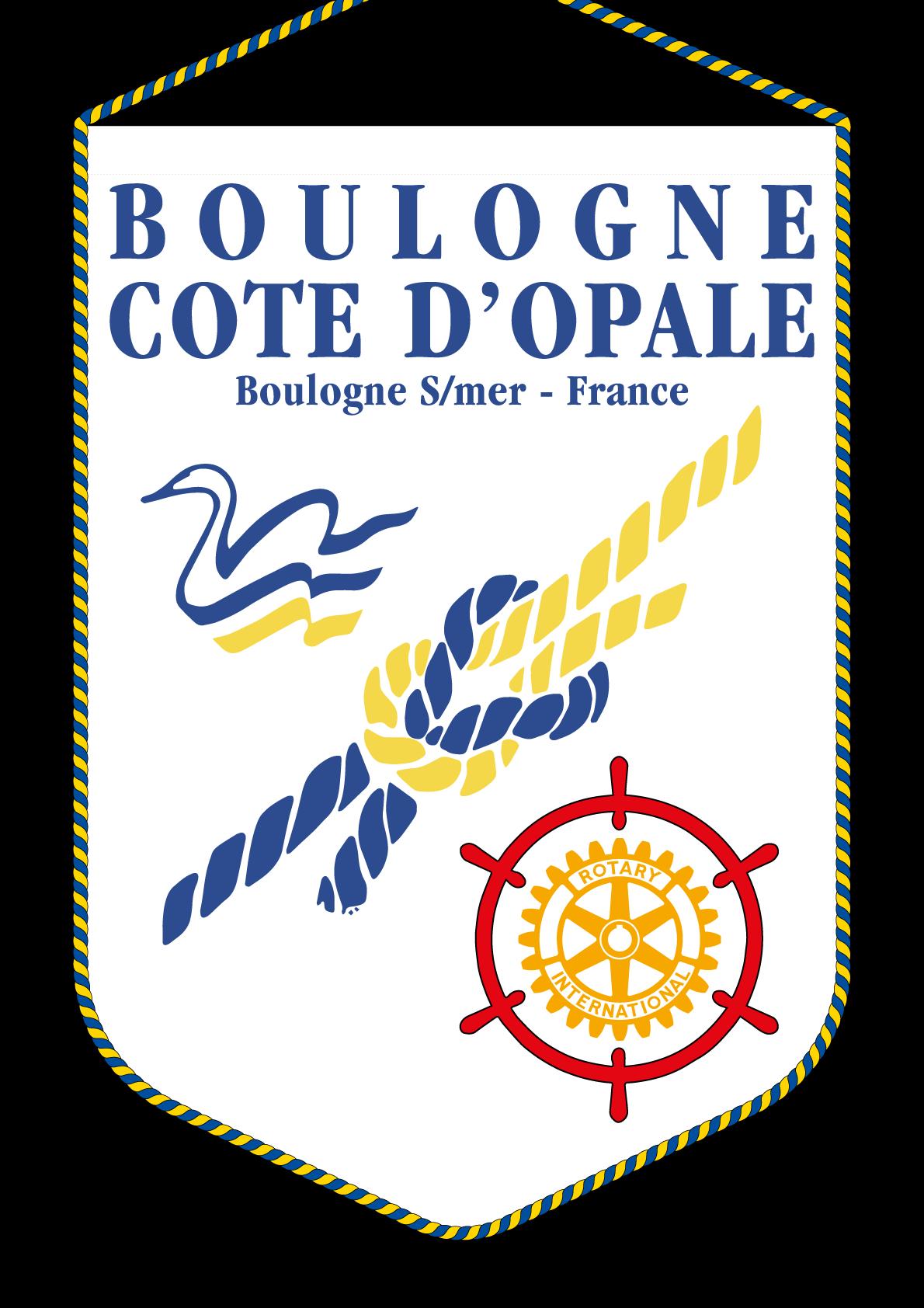 FANION ROTARY CLUB BOULOGNE COTE OPALE