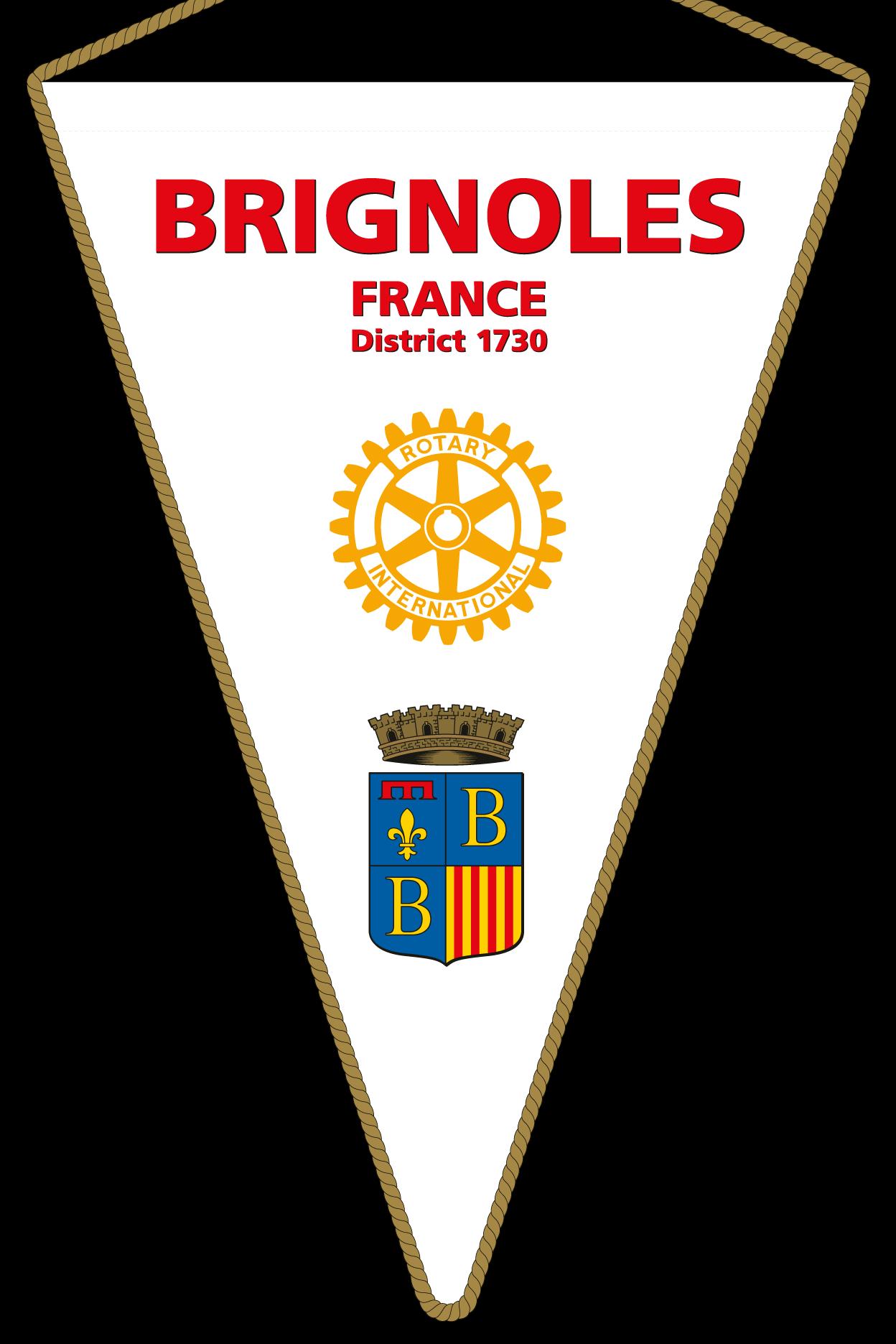 FANION ROTARY CLUB BRIGNOLES