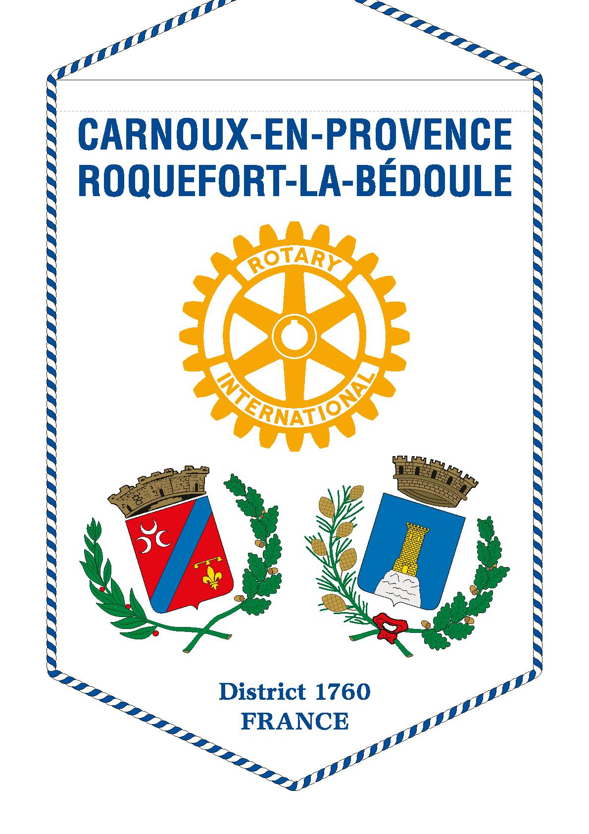 FANION ROTARY CLUB CARNOUX EN PROVENCE_ROQUEFORT_LA_BEDOULE
