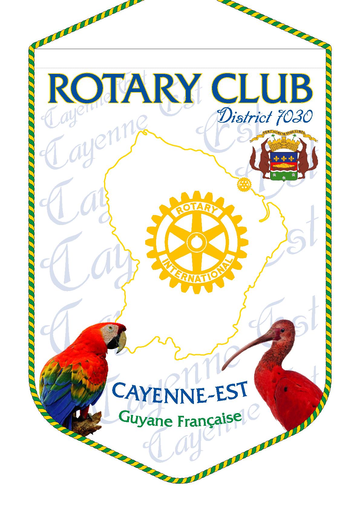 FANION ROTARY CLUB CAYENNE EST