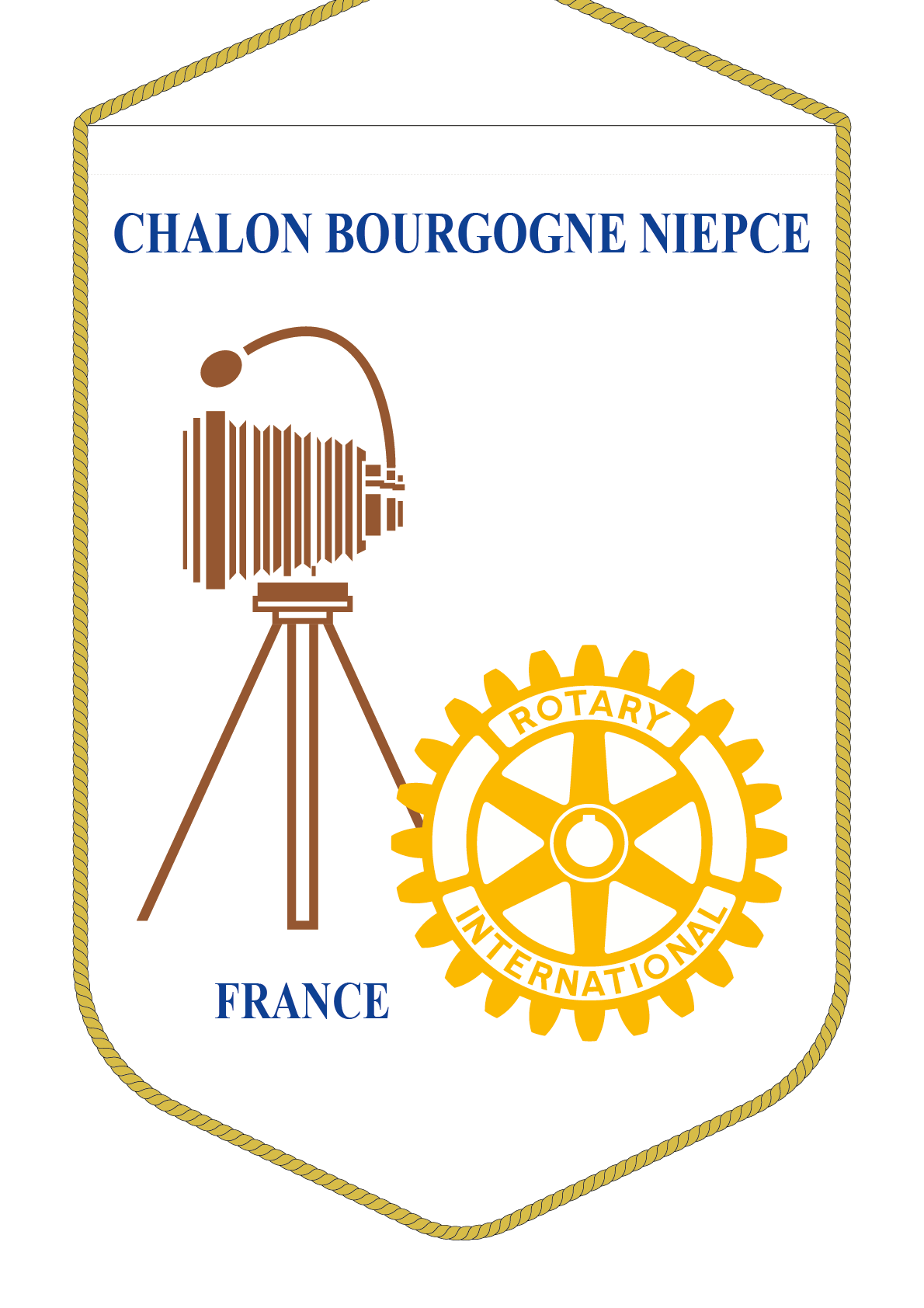 FANION ROTARY CLUB CHALON NIEPCE R