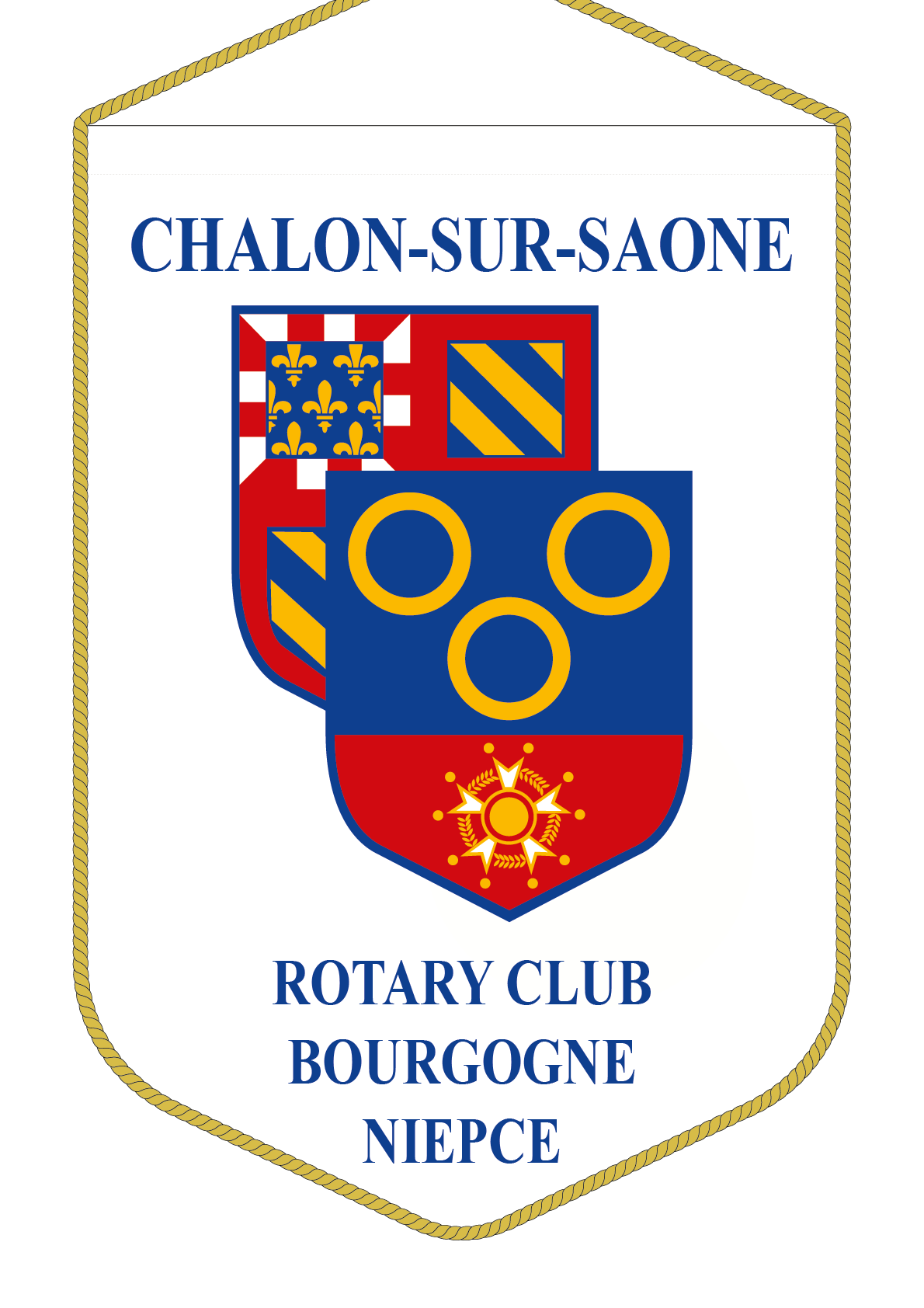 FANION ROTARY CLUB CHALON NIEPCE V