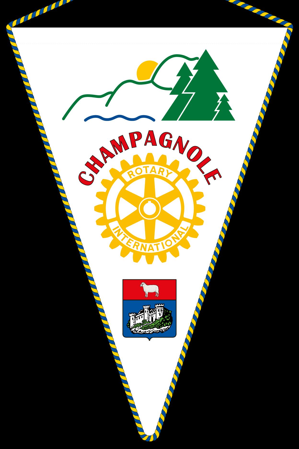 FANION ROTARY CLUB CHAMPAGNOLE