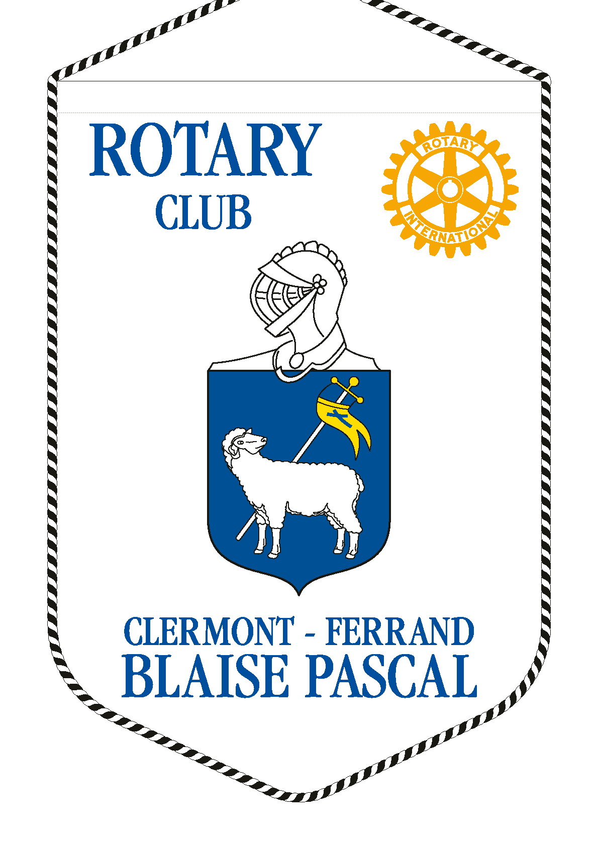 FANION ROTARY CLUB CLERMONT FERRAND BLAISE PASCAL R