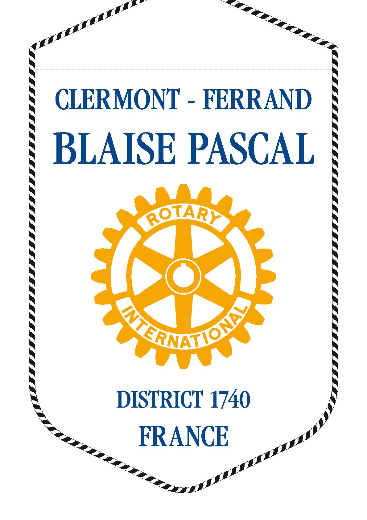 FANION ROTARY CLUB CLERMONT FERRAND BLAISE PASCAL V