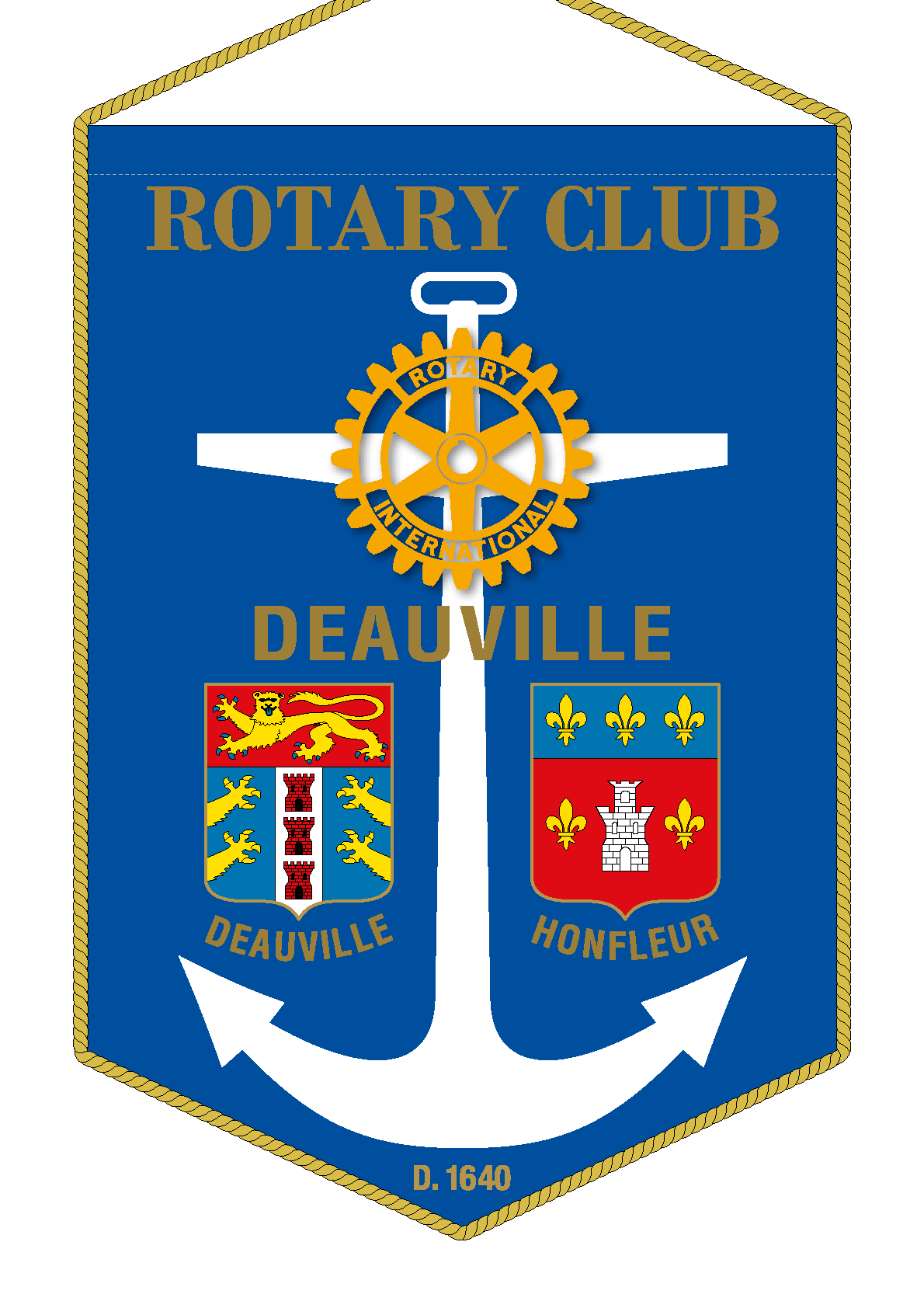 FANION ROTARY CLUB DEAUVILLE