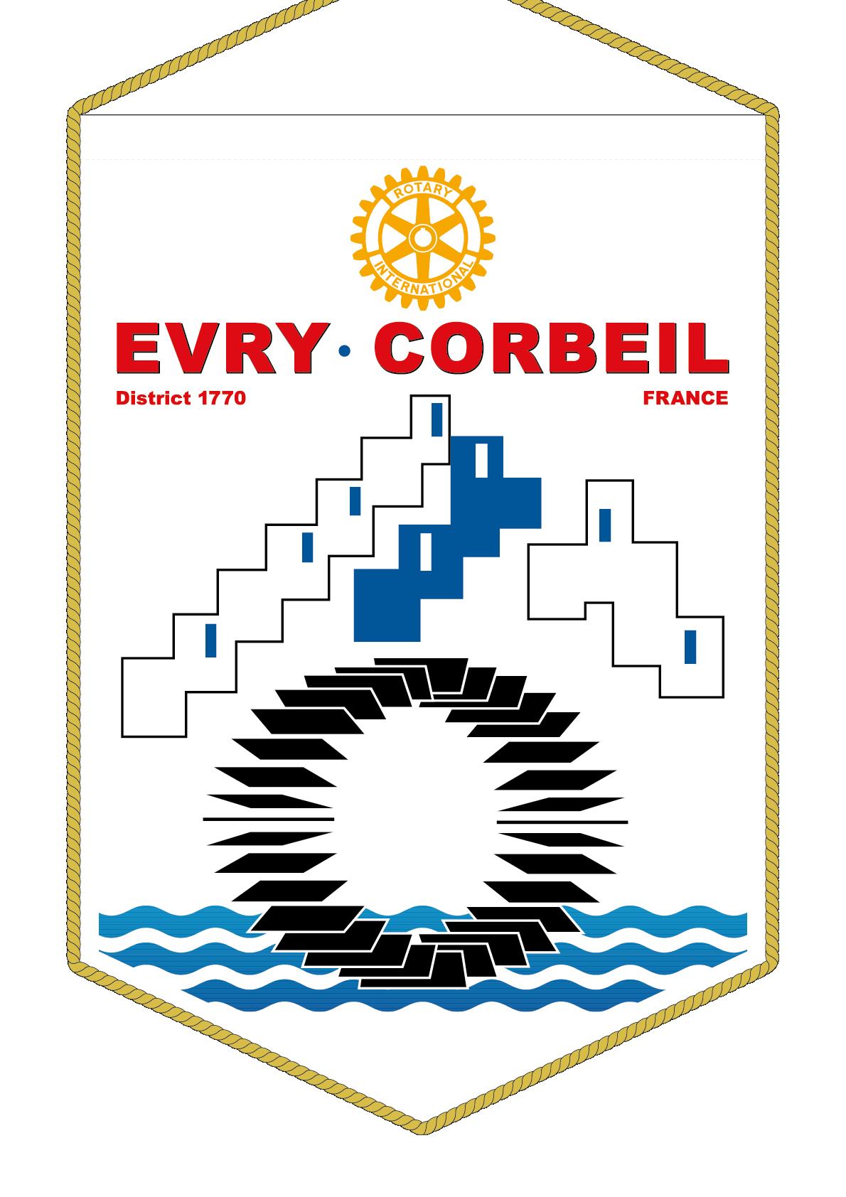 FANION ROTARY CLUB EVRY CORBEIL
