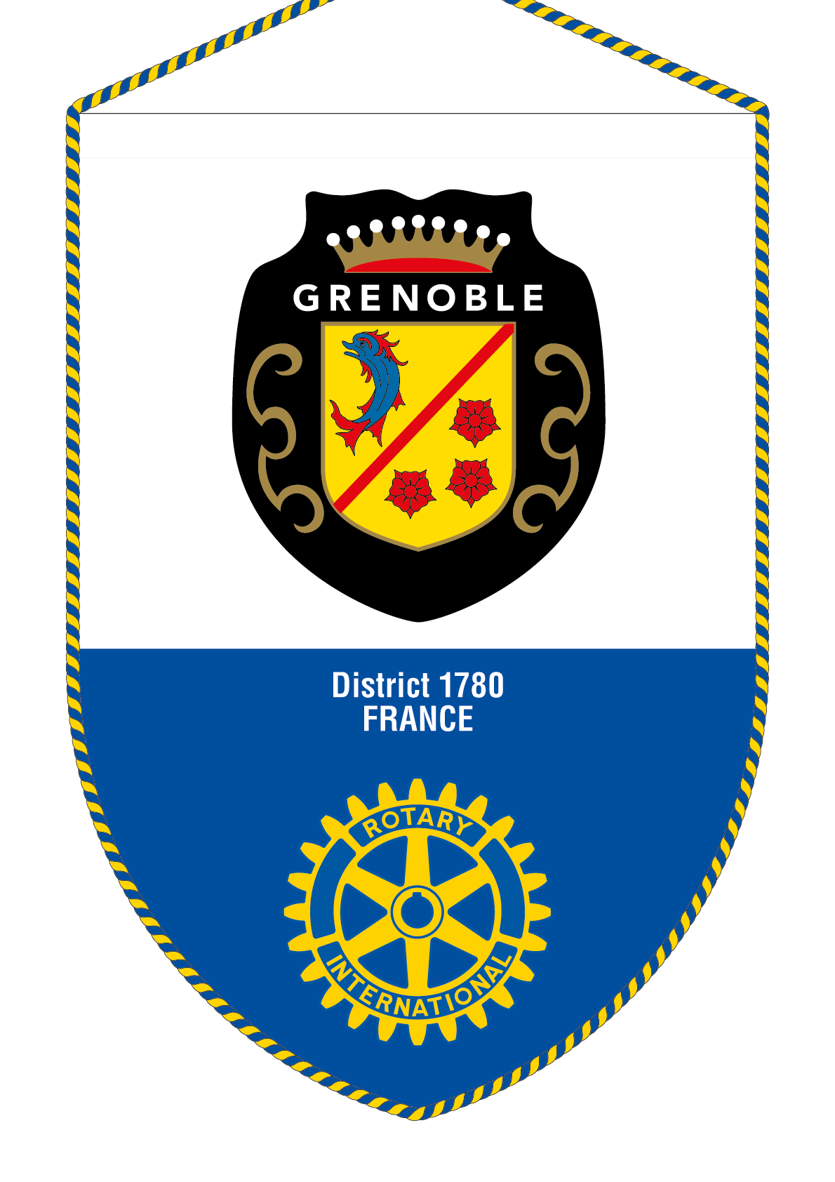FANION ROTARY CLUB GRENOBLE