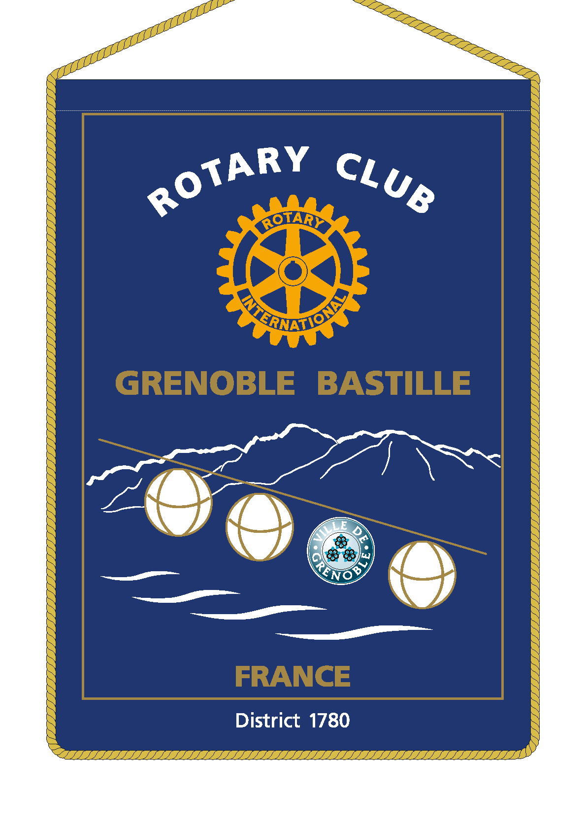FANION ROTARY CLUB GRENOBLE BASTILLE