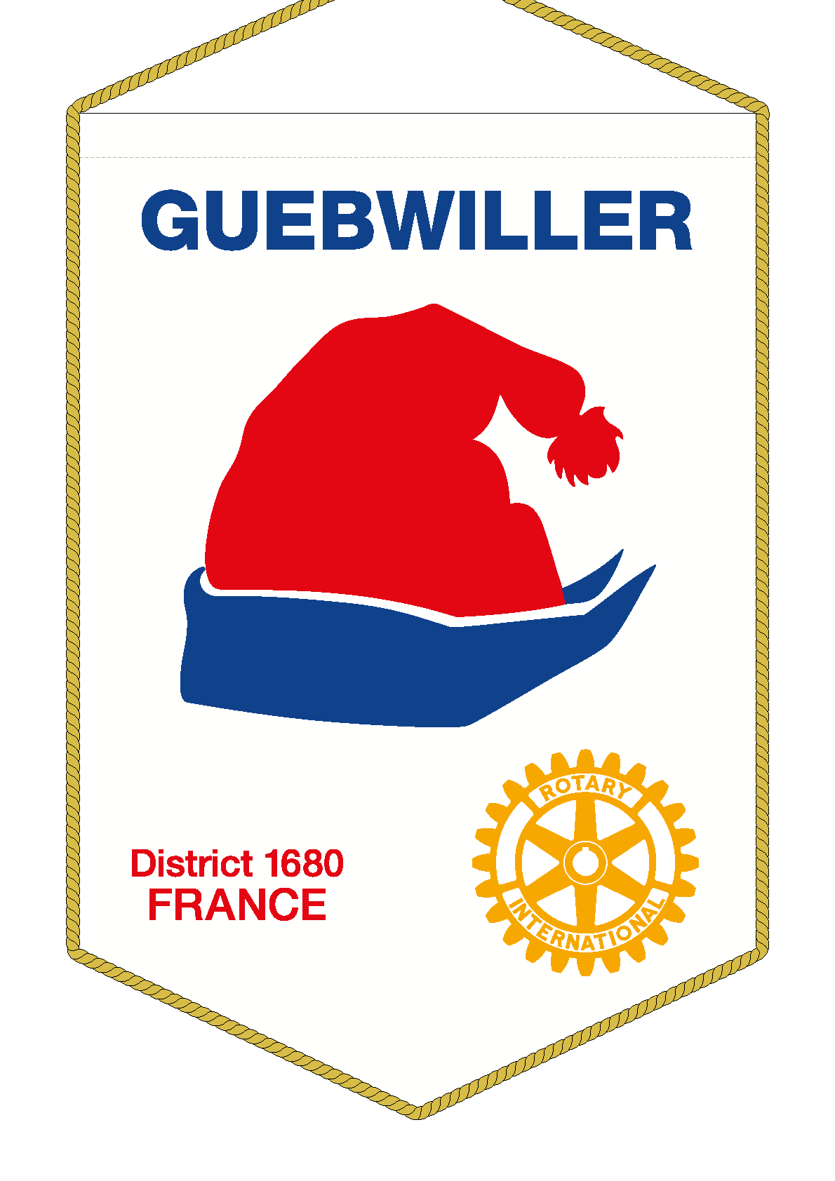 FANION ROTARY CLUB GUEBWILLER