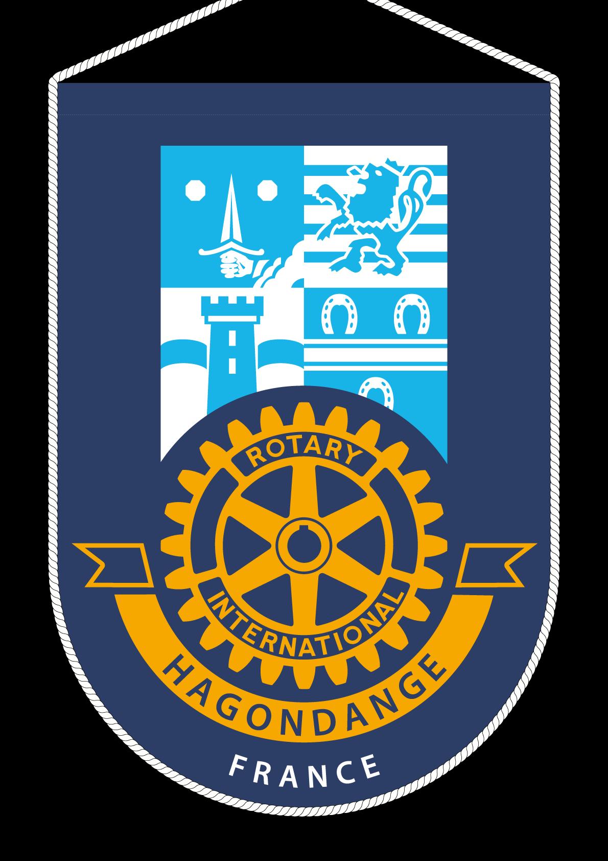 FANION ROTARY CLUB HAGONDANGE