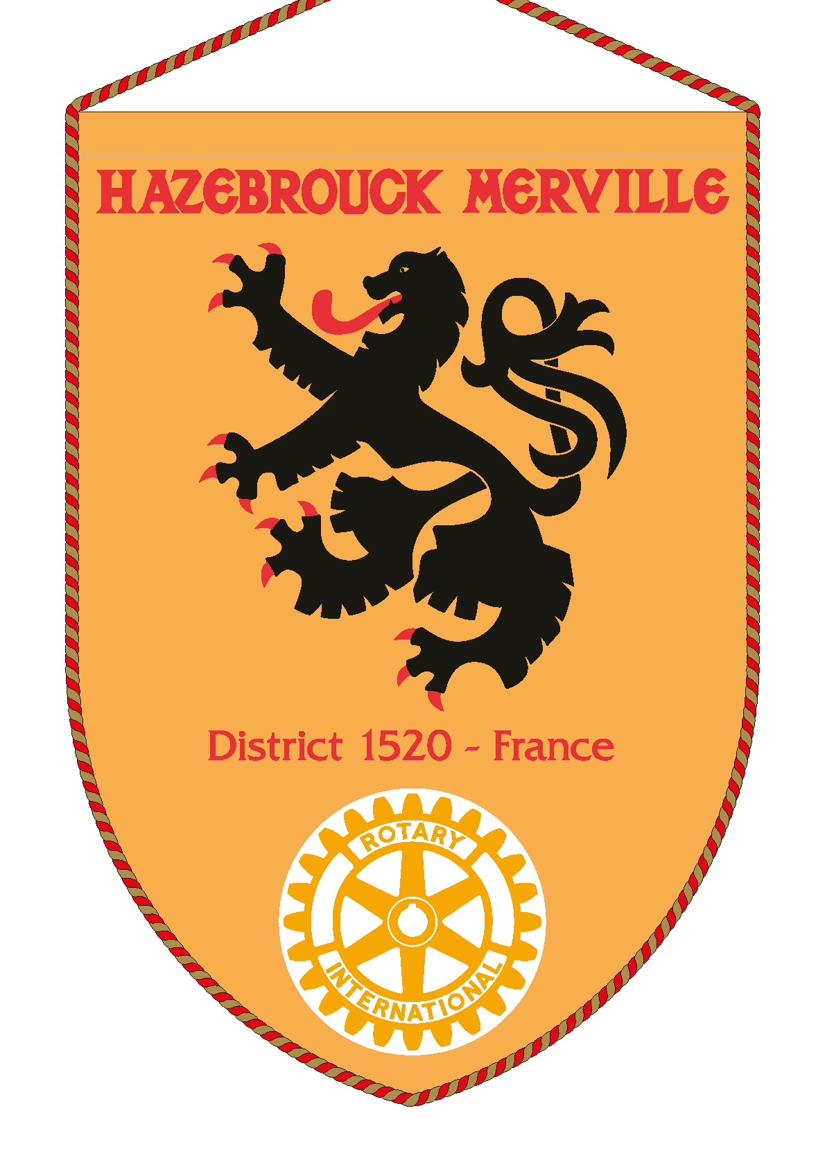 FANION ROTARY CLUB HAZEBROUCK