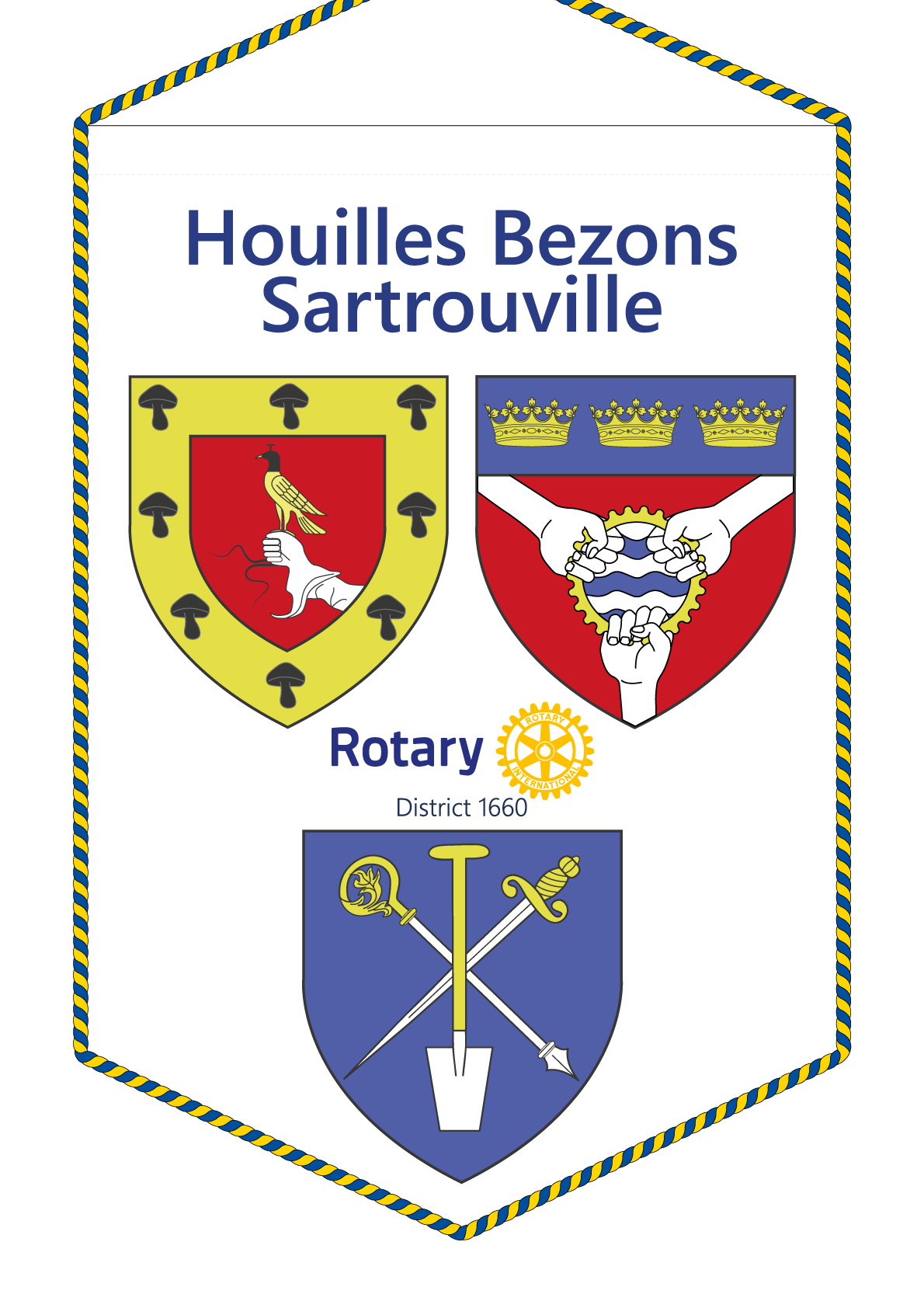 FANION ROTARY CLUB HOUILLES BEZONS SARTROUVILLE