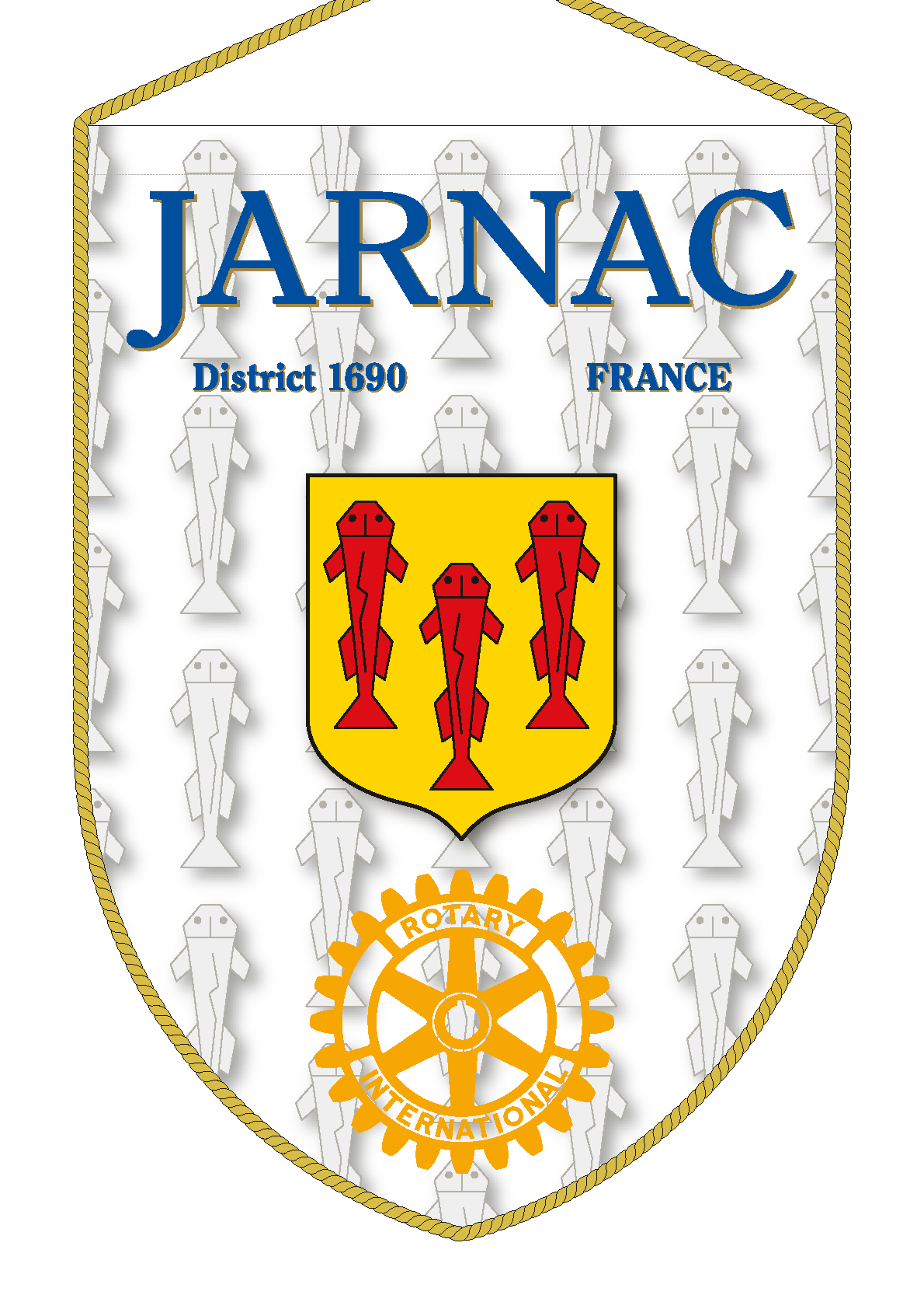 FANION ROTARY CLUB JARNAC