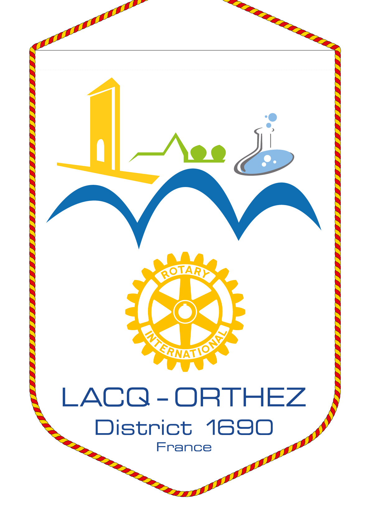FANION ROTARY CLUB LACQ ORTHEZ