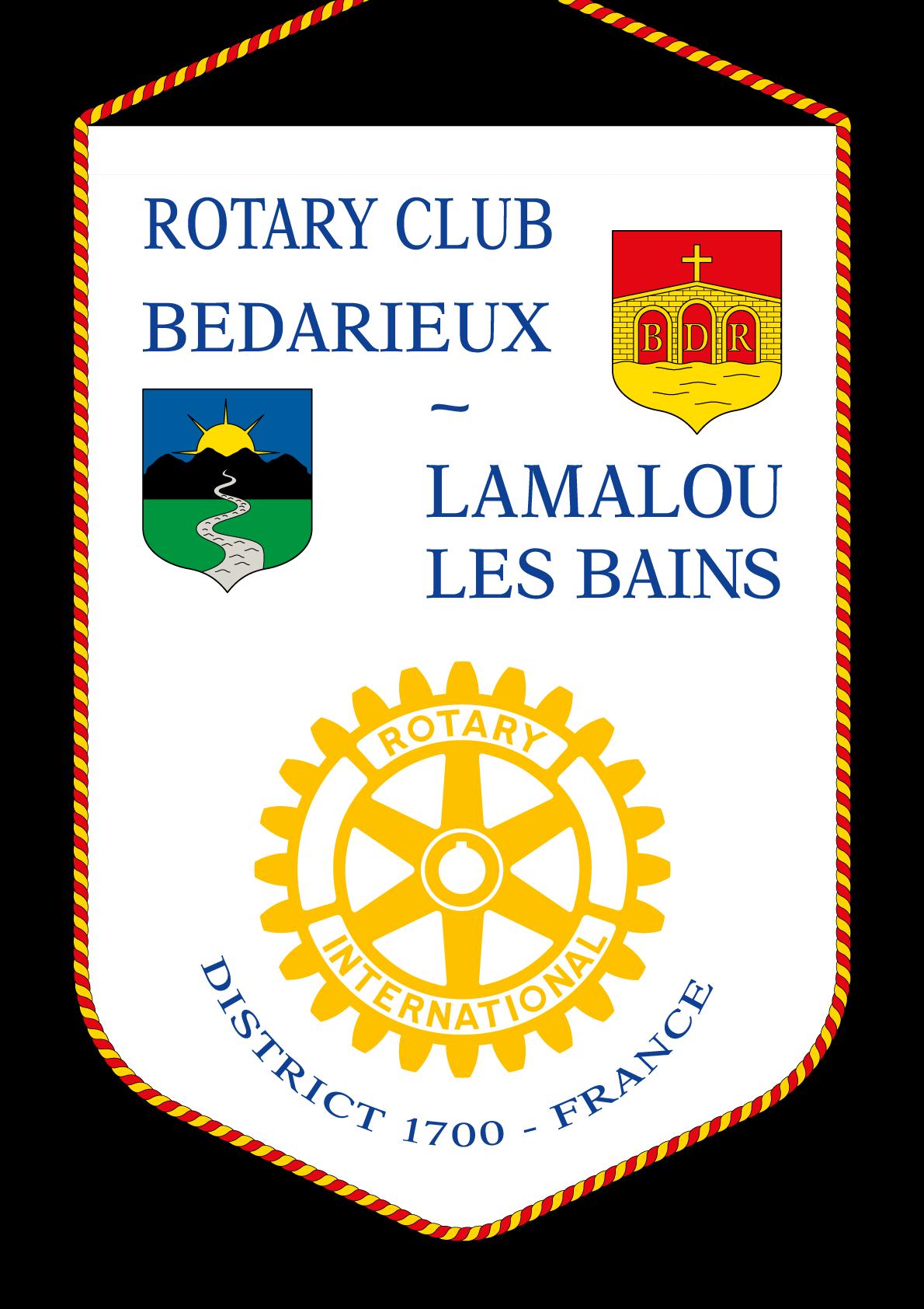 FANION ROTARY CLUB LAMALOU LES BAINS