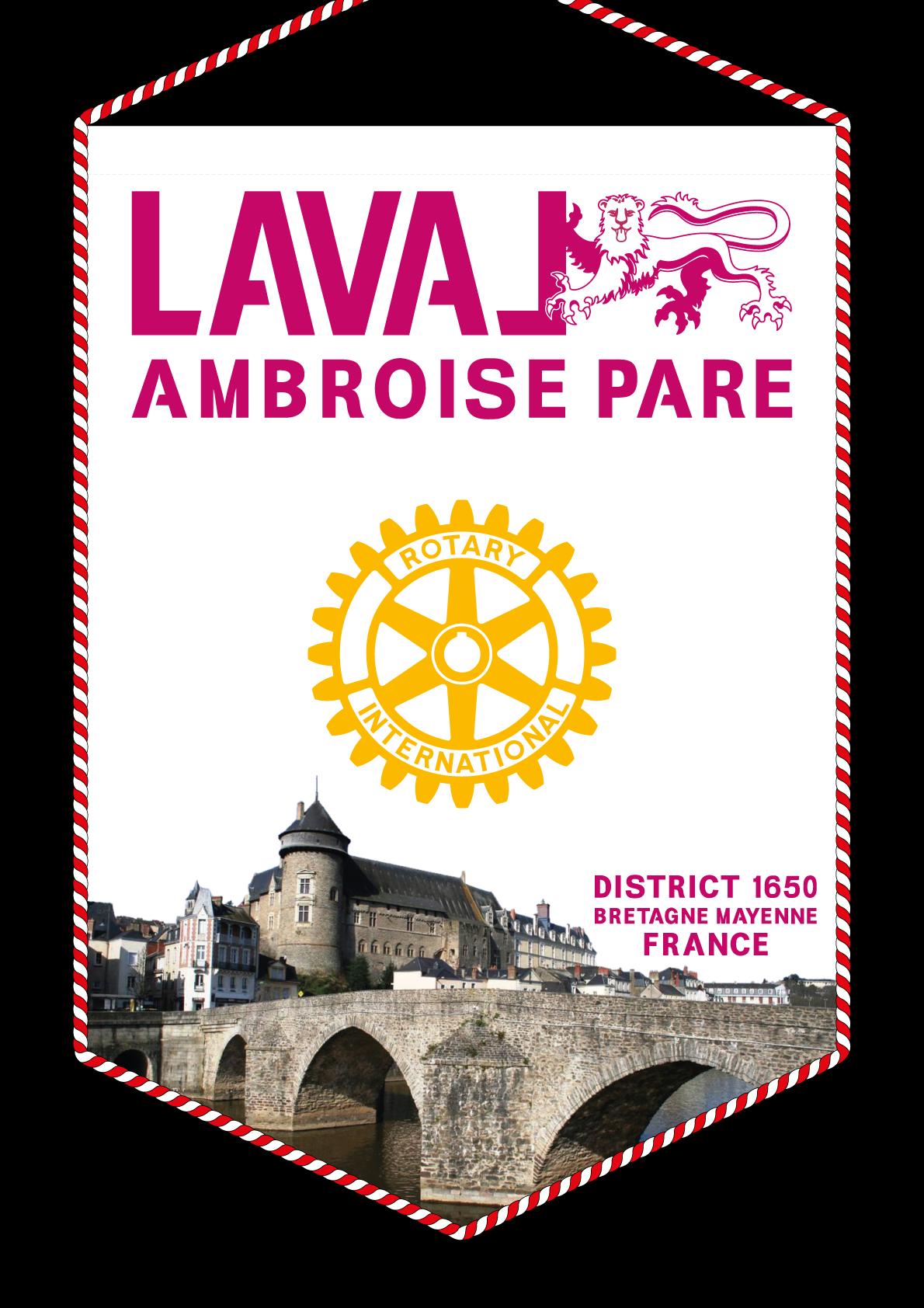 FANION ROTARY CLUB LAVAL AMBROISE PARE