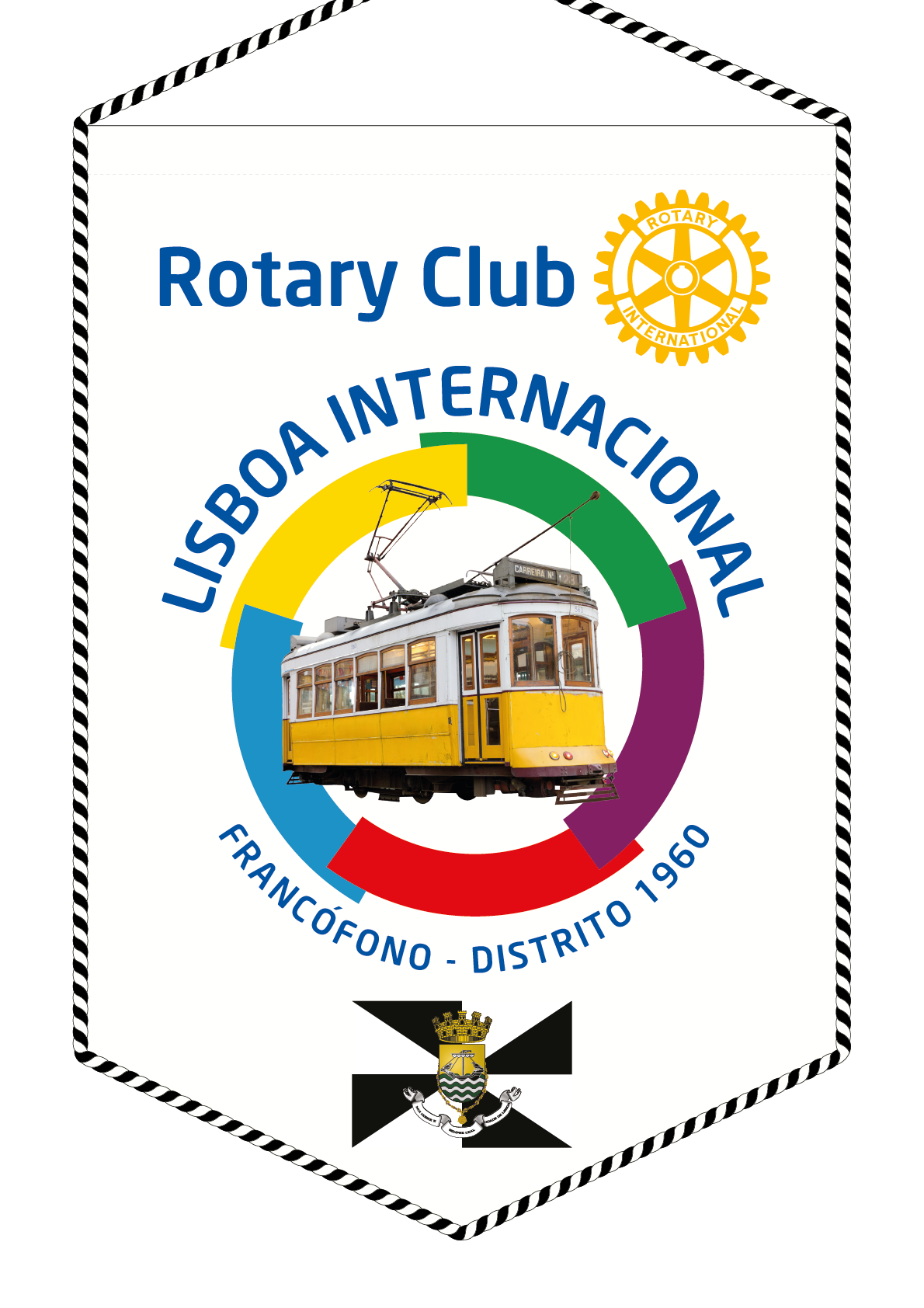 FANION ROTARY CLUB LISBOA INTERNATIONAL