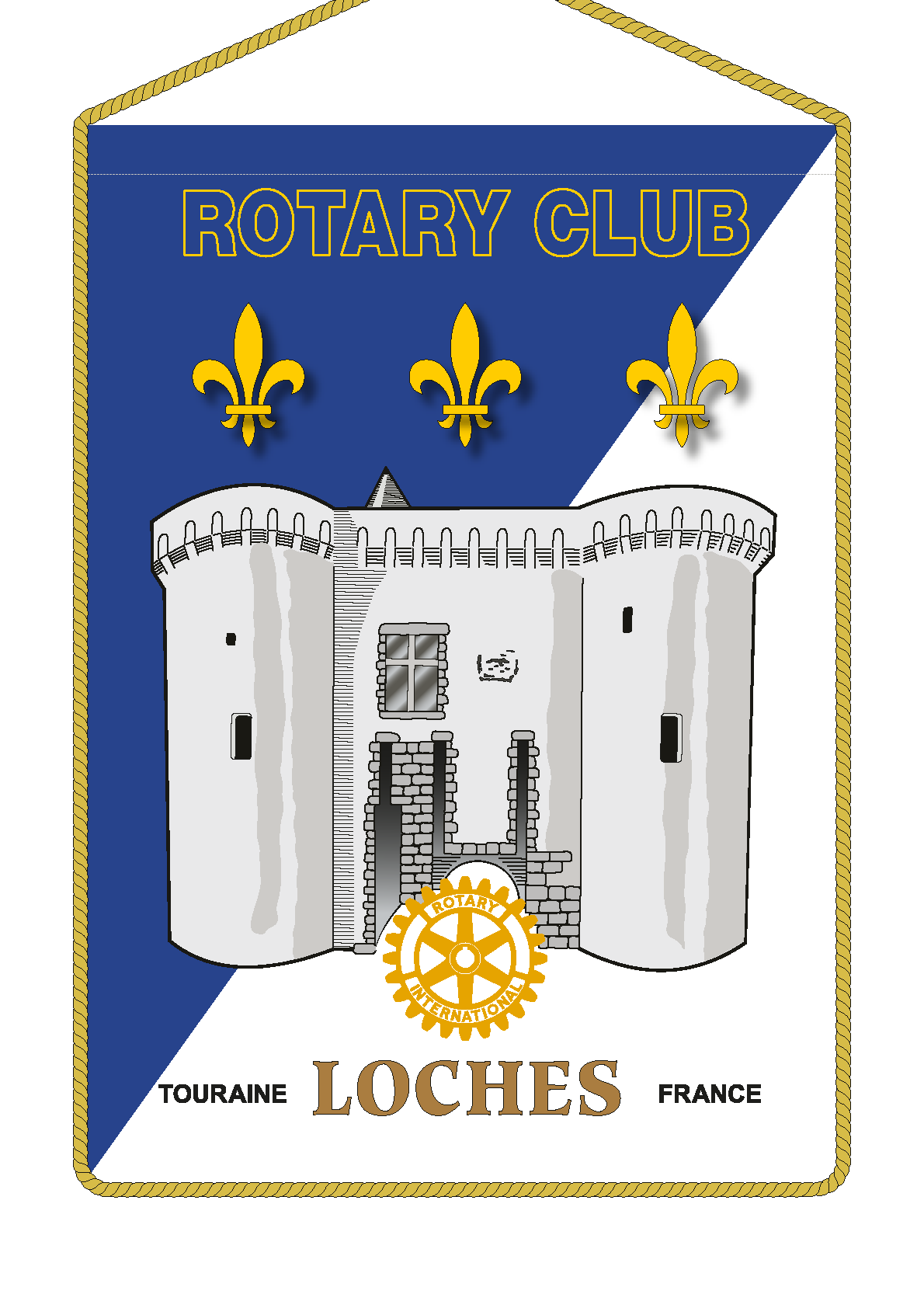 FANION ROTARY CLUB LOCHES