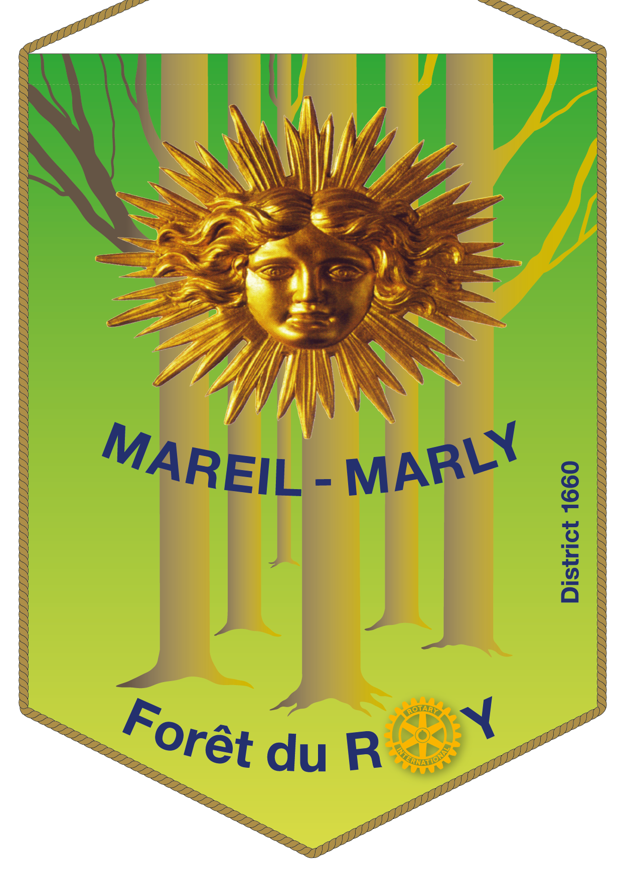 FANION ROTARY CLUB MAREUIL MARLY