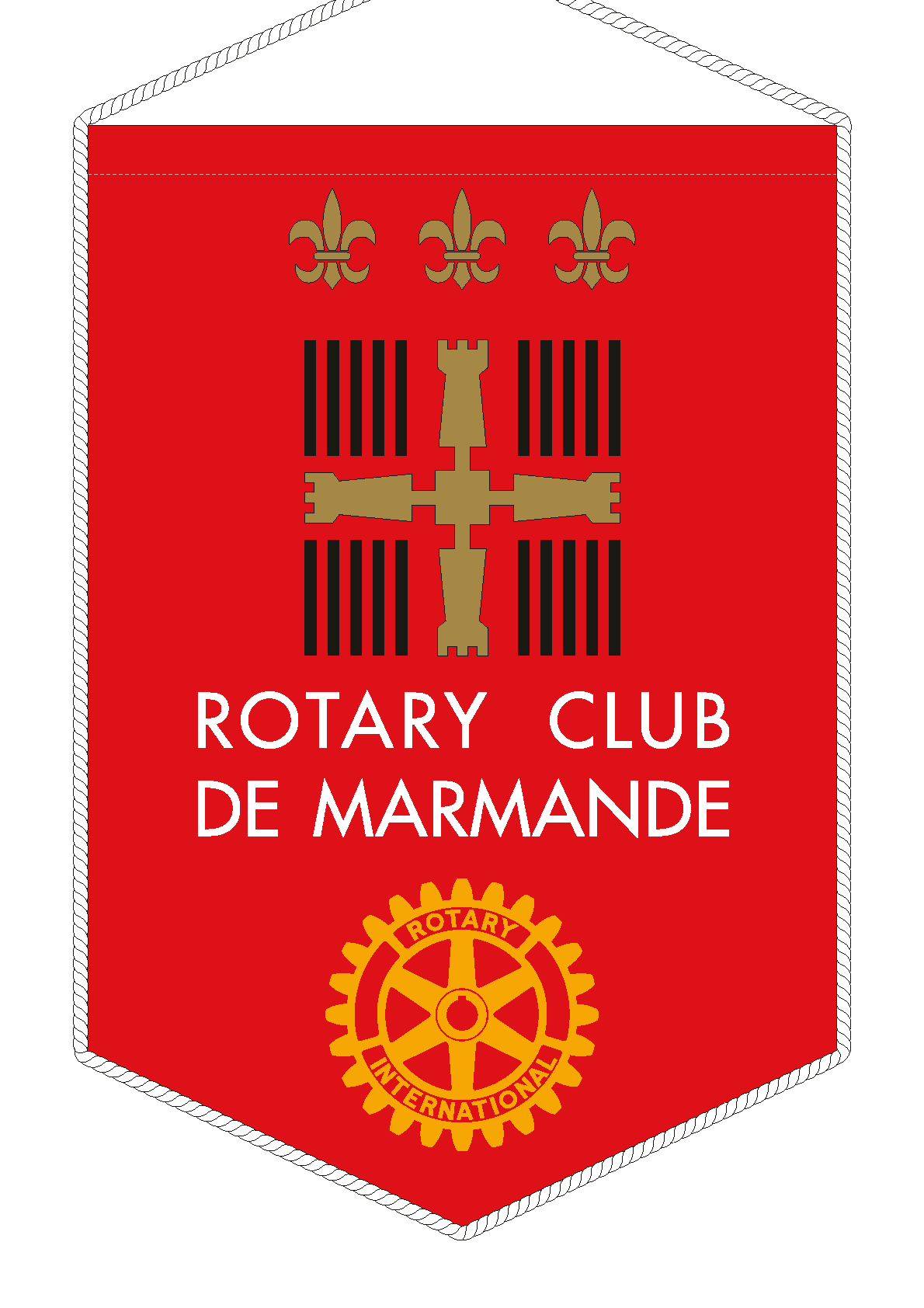 FANION ROTARY CLUB MARMANDE