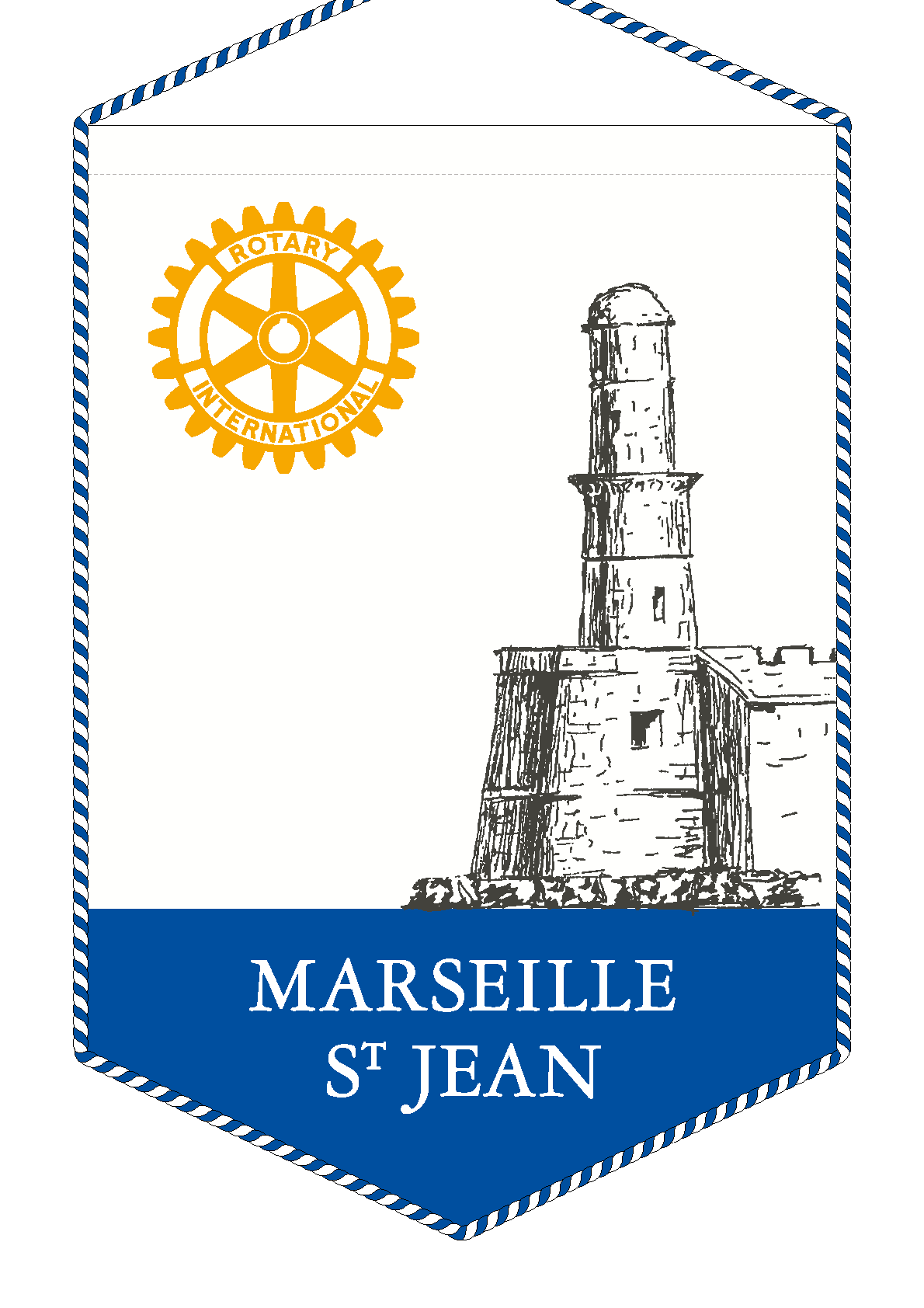 FANION ROTARY CLUB MARSEILLE SAINT JEAN