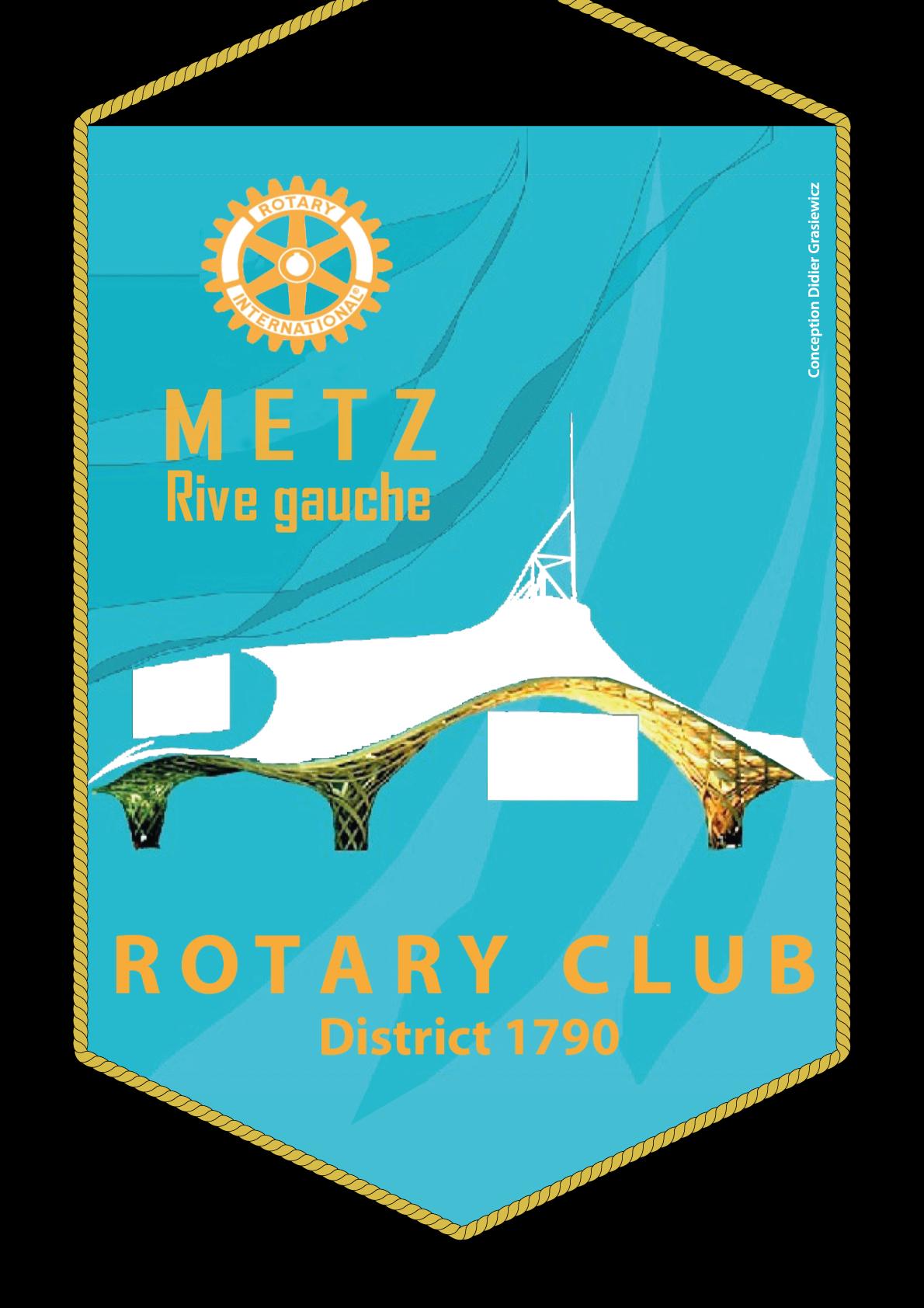 FANION ROTARY CLUB METZ RIVE GAUCHE