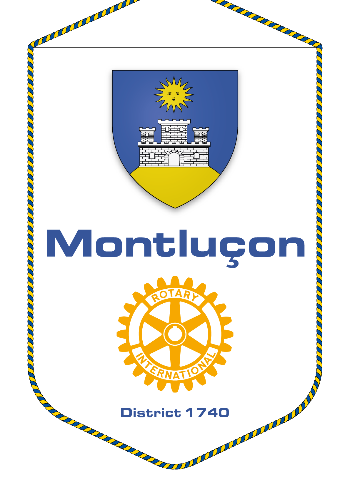 FANION ROTARY CLUB MONTLUCON