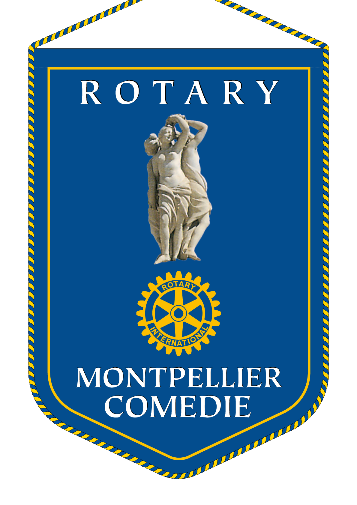 FANION ROTARY CLUB MONTPELLIER COMEDIE