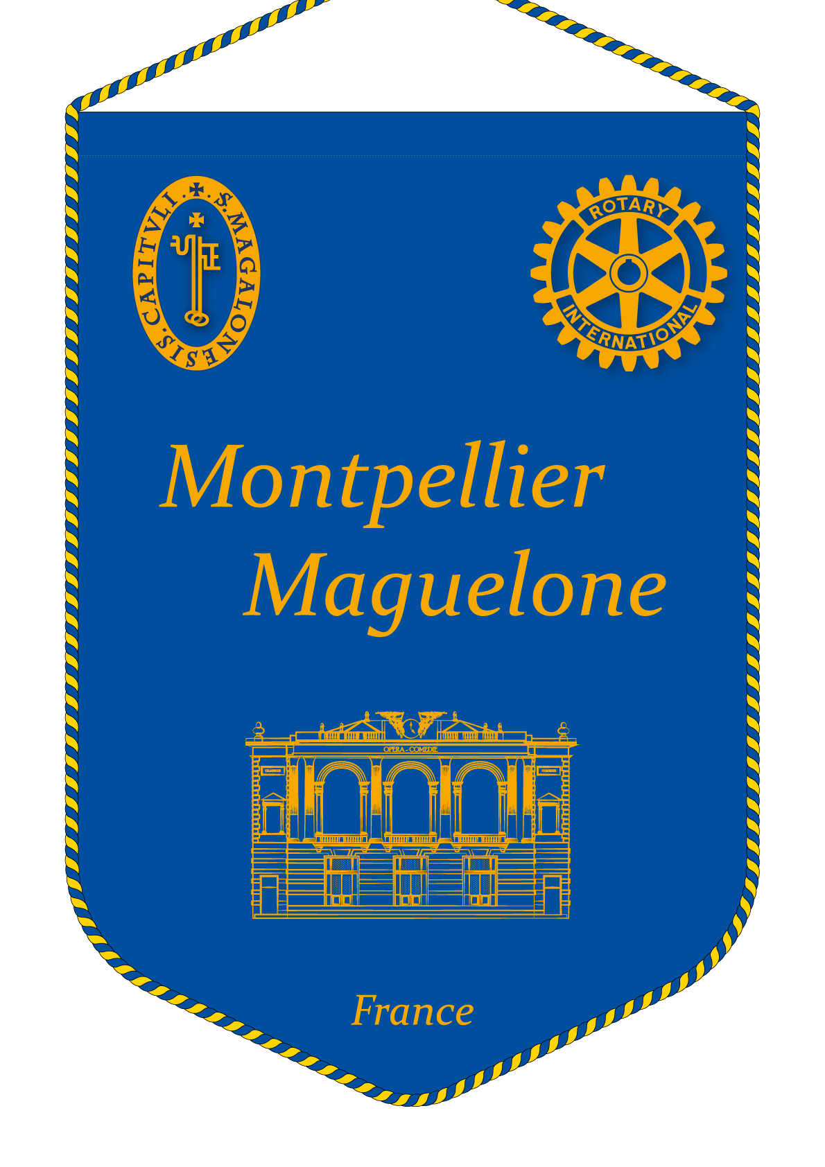 FANION ROTARY CLUB MONTPELLIER MAGUELONE