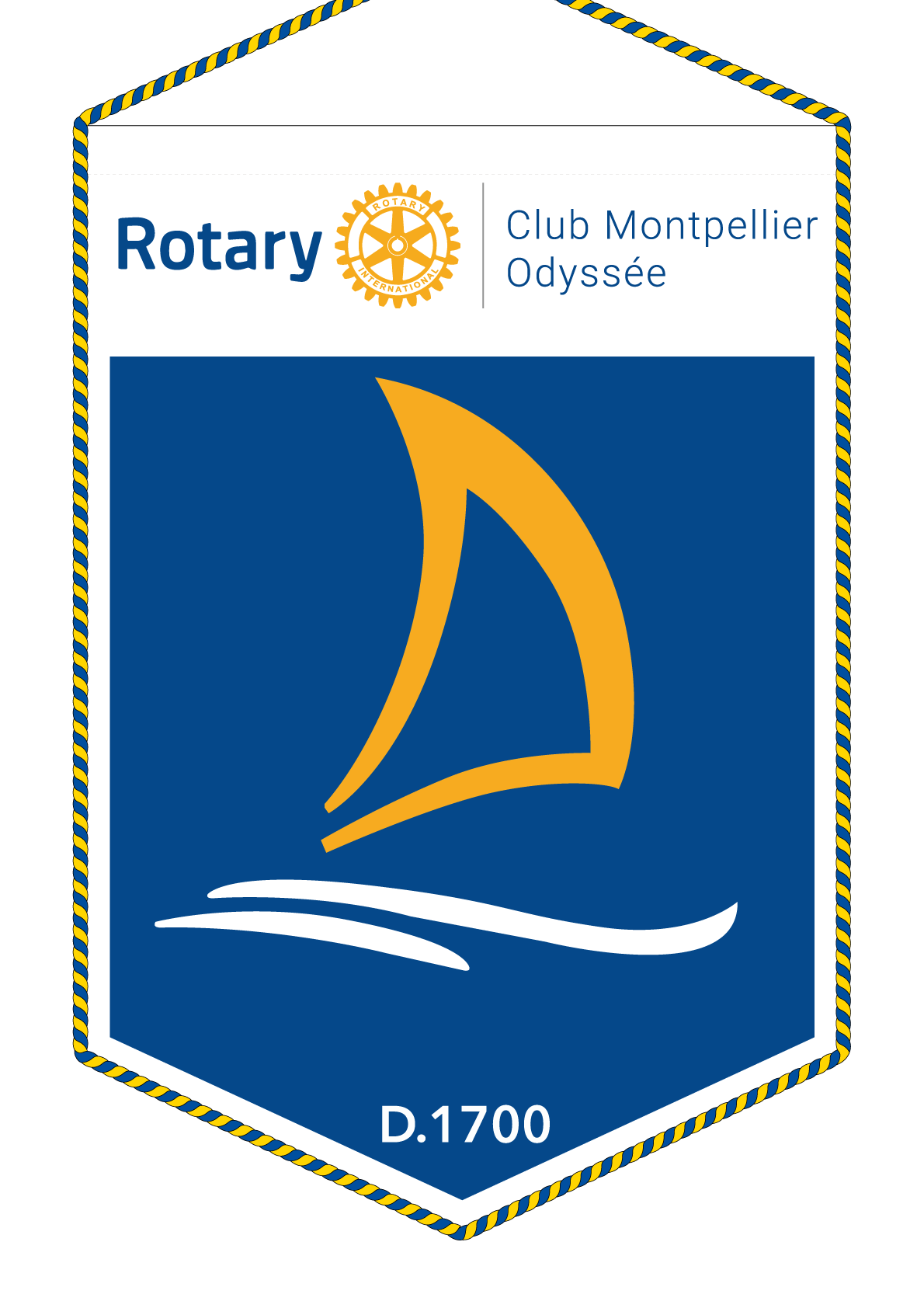 FANION ROTARY CLUB MONTPELLIER ODYSSEE