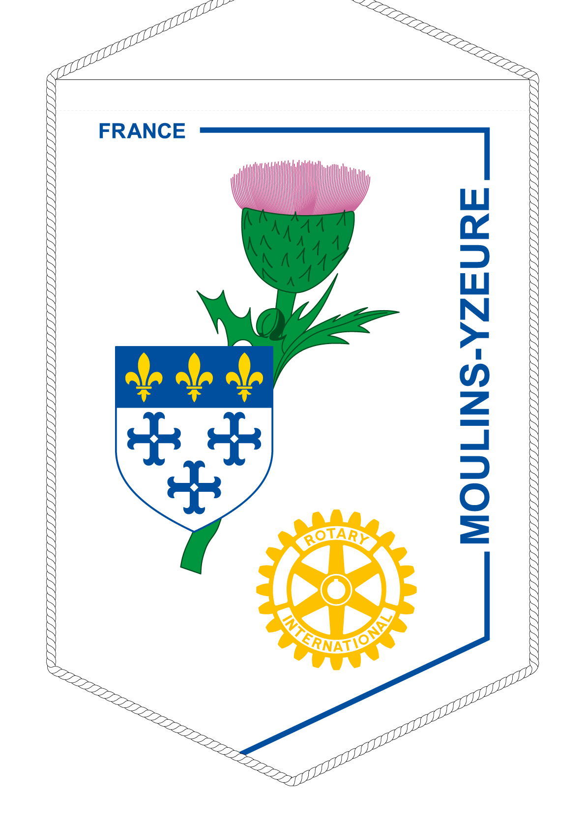 FANION ROTARY CLUB MOULINS YZEURE