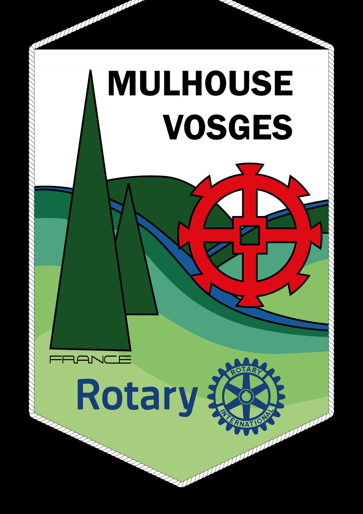 FANION ROTARY CLUB MULHOUSE VOSGES