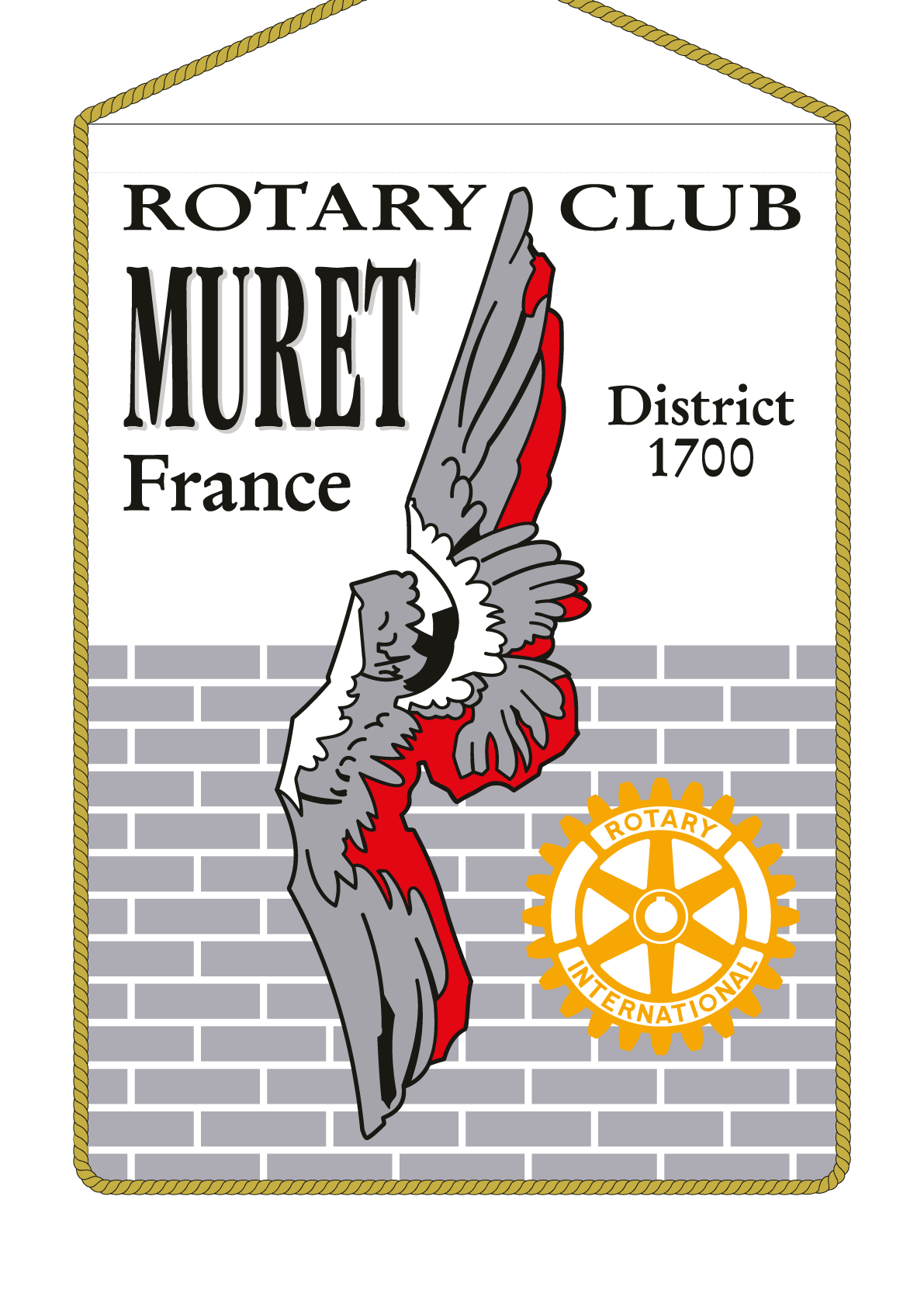 FANION ROTARY CLUB MURET