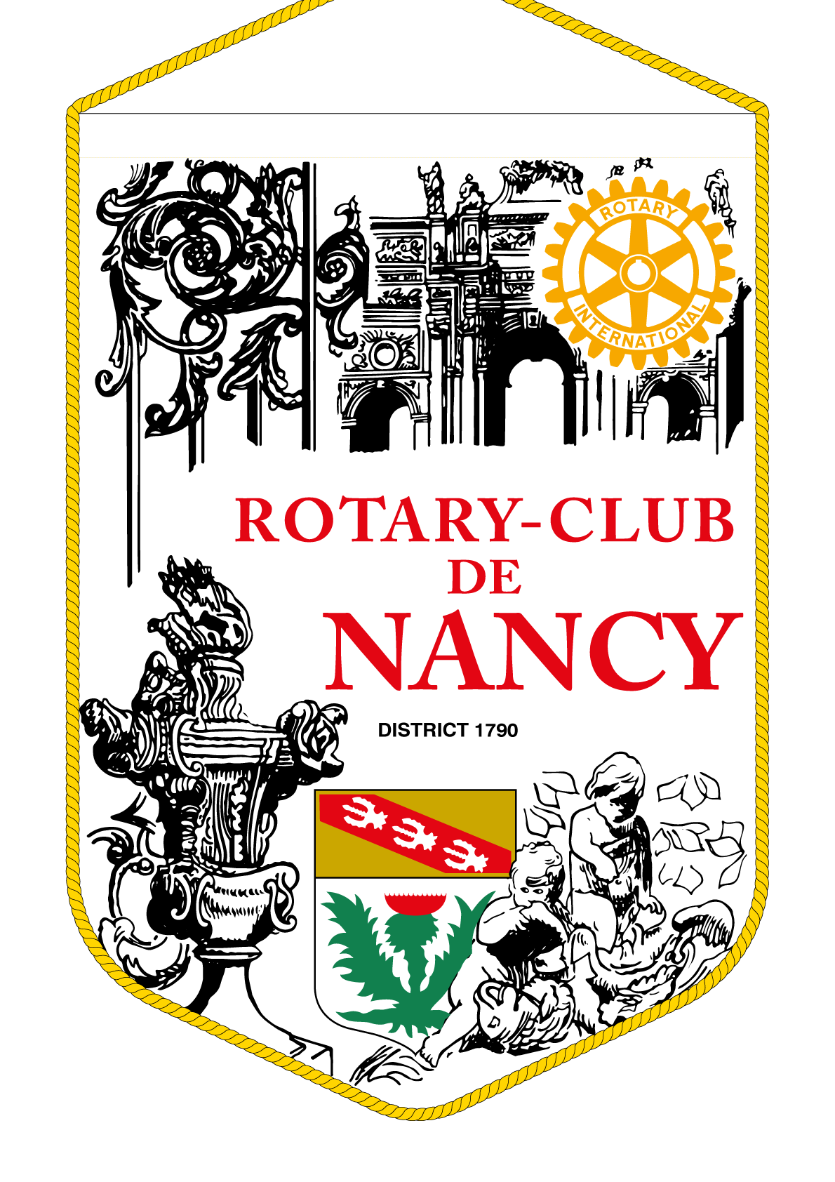 FANION ROTARY CLUB NANCY