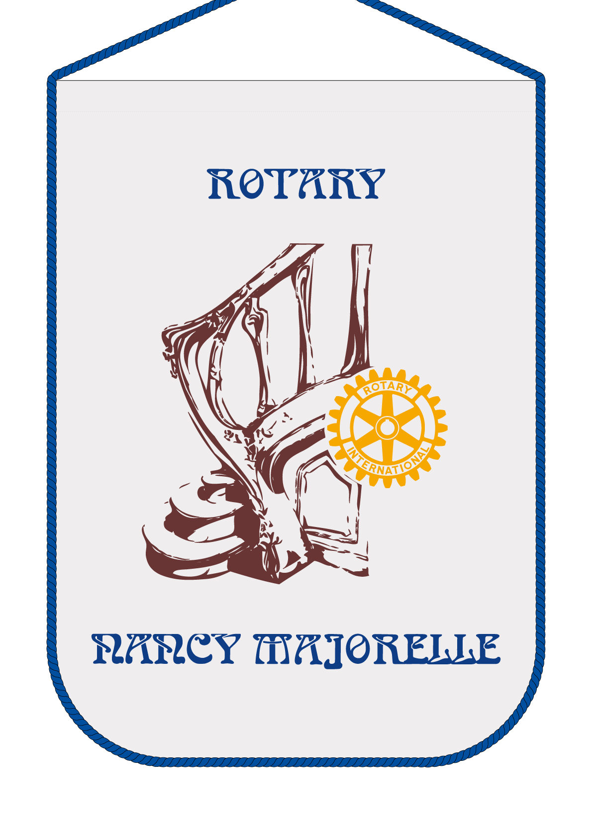 FANION ROTARY CLUB NANCY MAJORELLE R