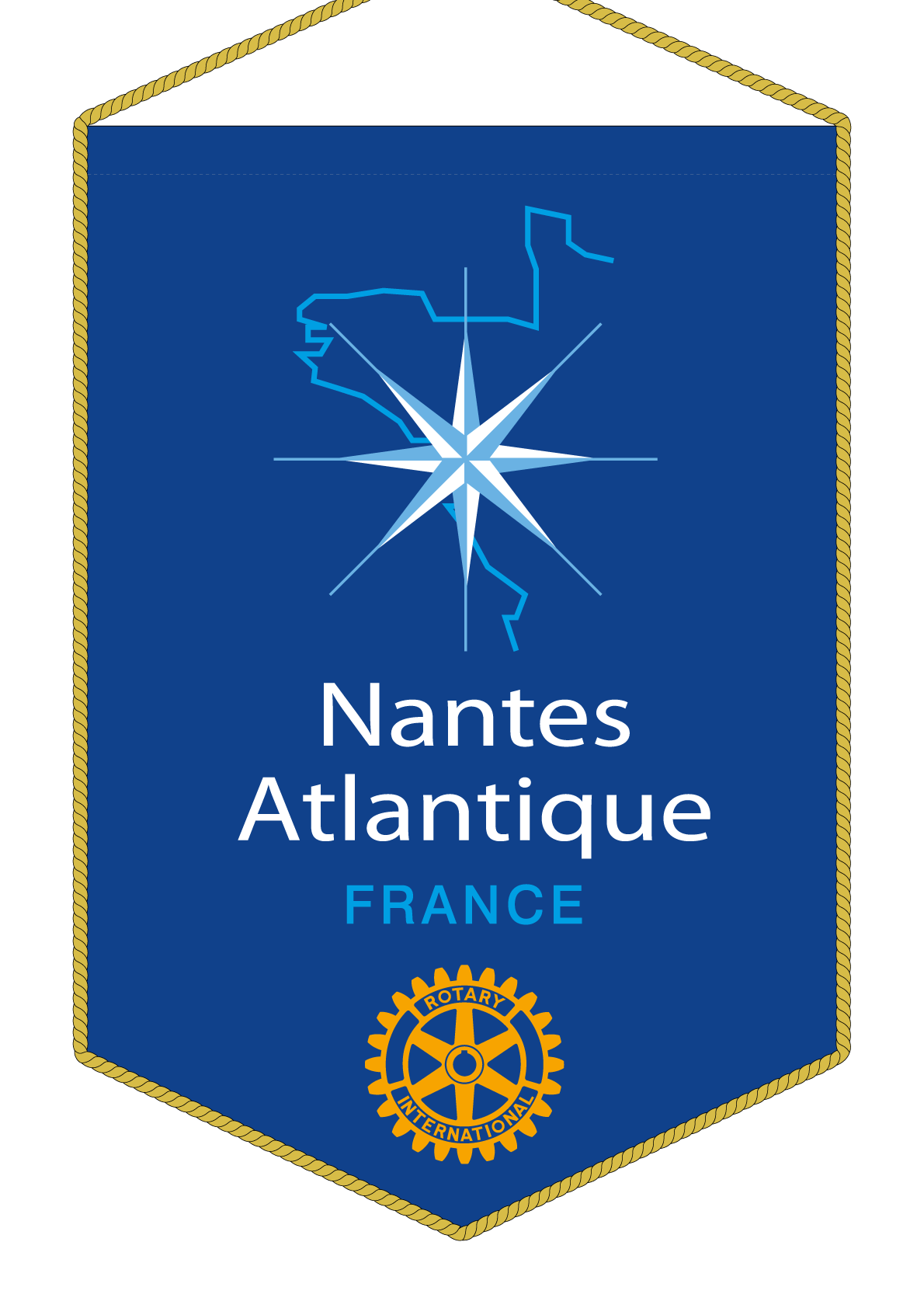 FANION ROTARY CLUB NANTES ATLANTIQUE